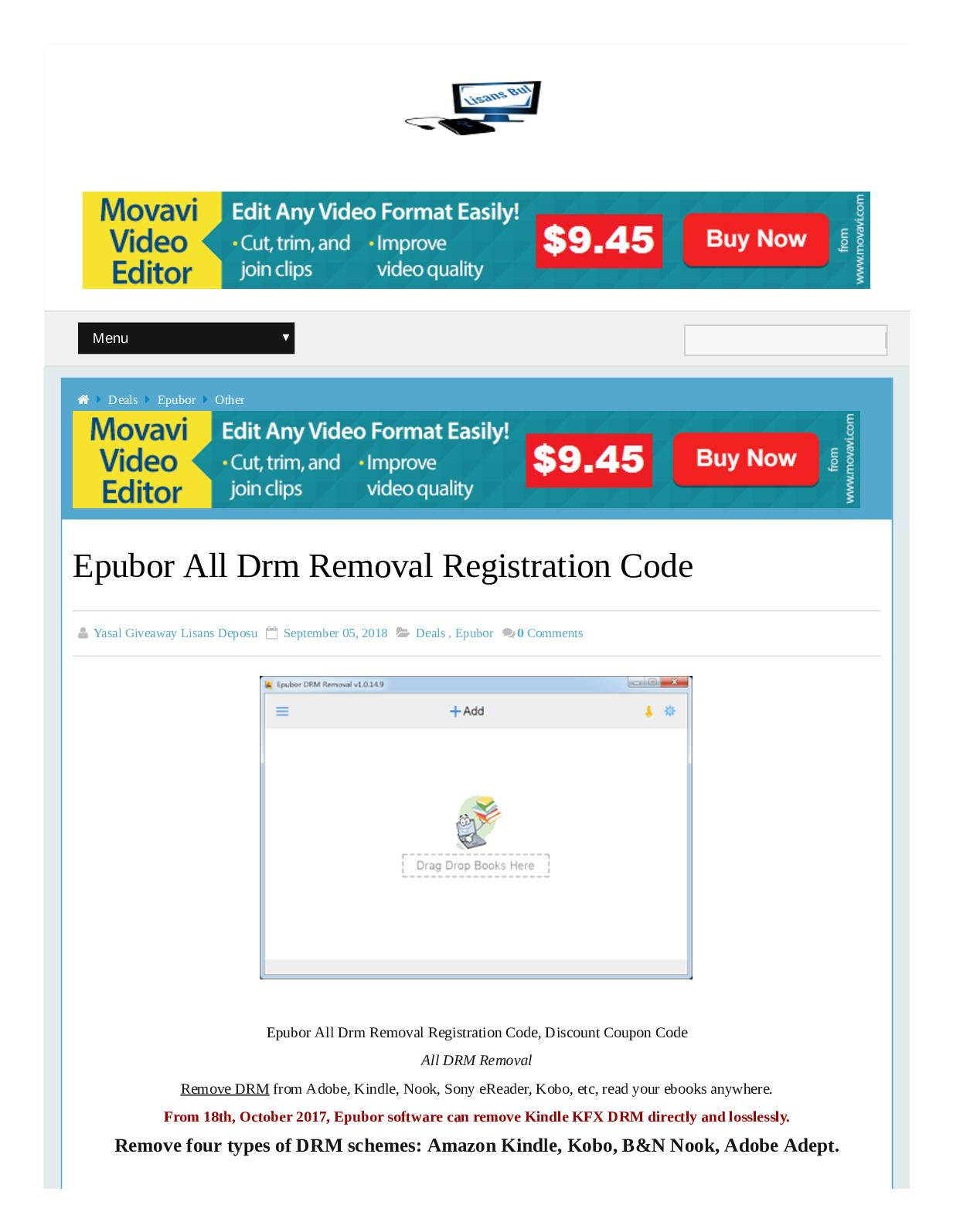 Calaméo - Coupon Code Epubor All Drm Removal Registration Code