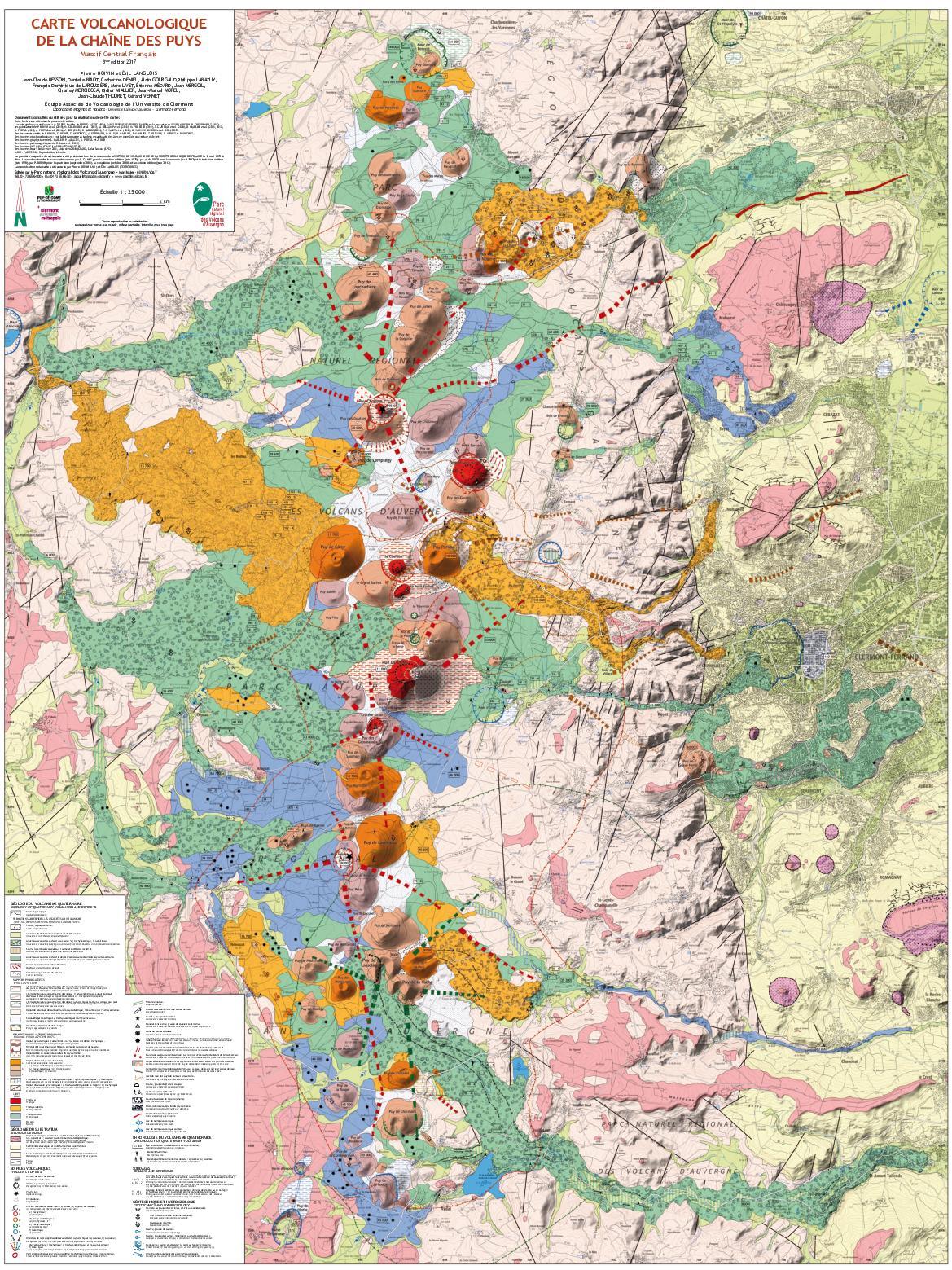 chaîne des puys carte Calaméo   Carte volcanique de la chaîne des Puys
