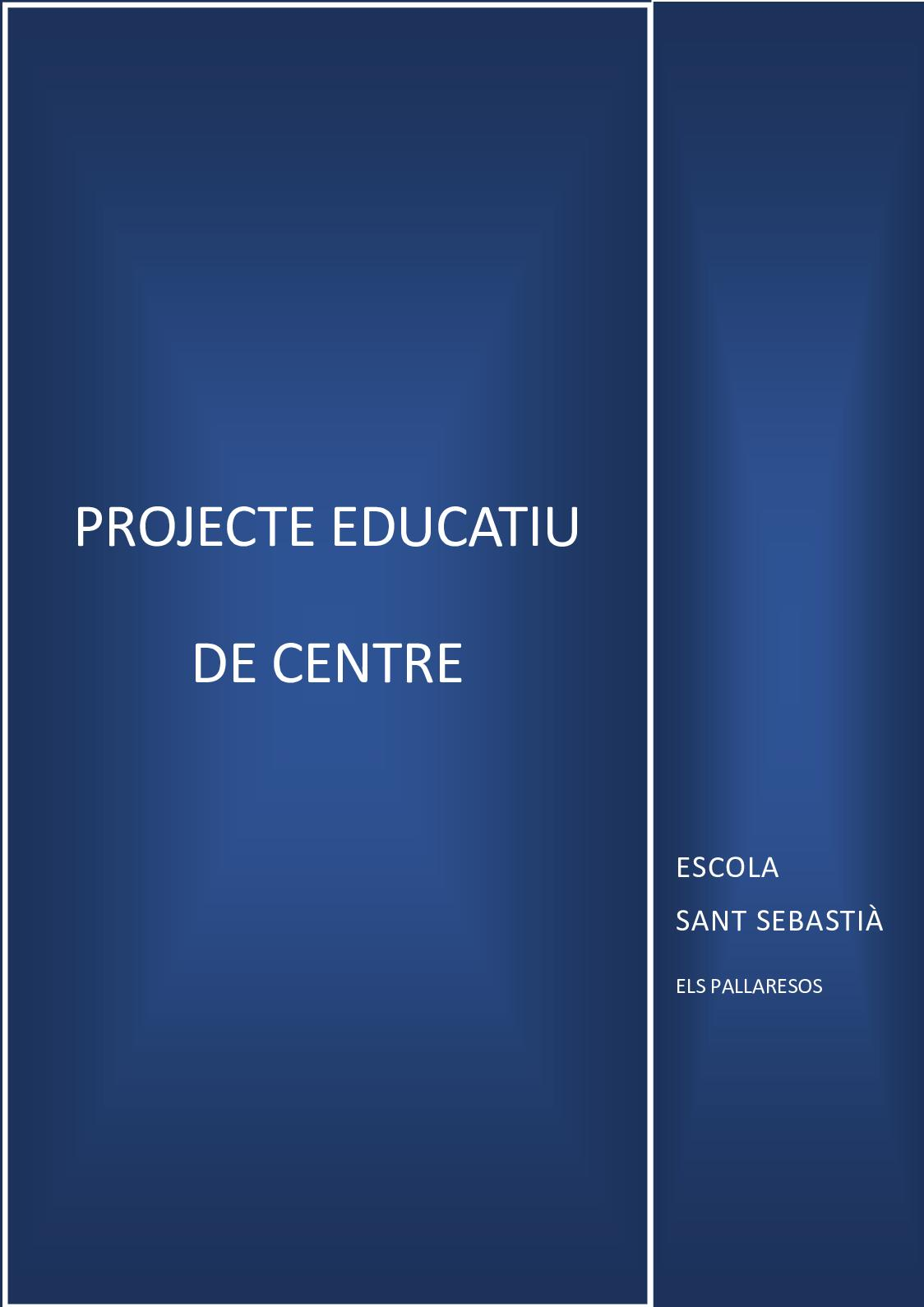 Pec Escola Sant Sebastià 2018