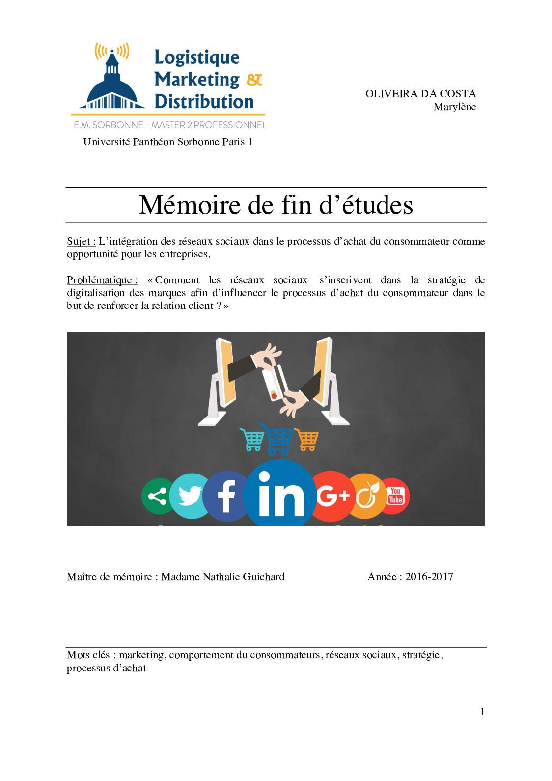 Masterlmd P19 Memoire 2017 Oliveira Marylene