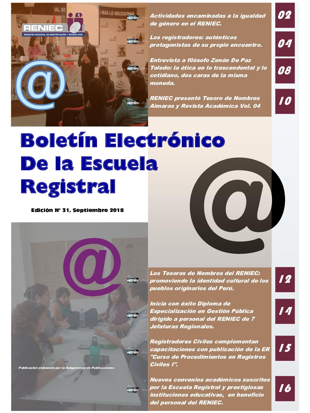 Calaméo Boletín Electrónico Er N 31 Septiembre 2018