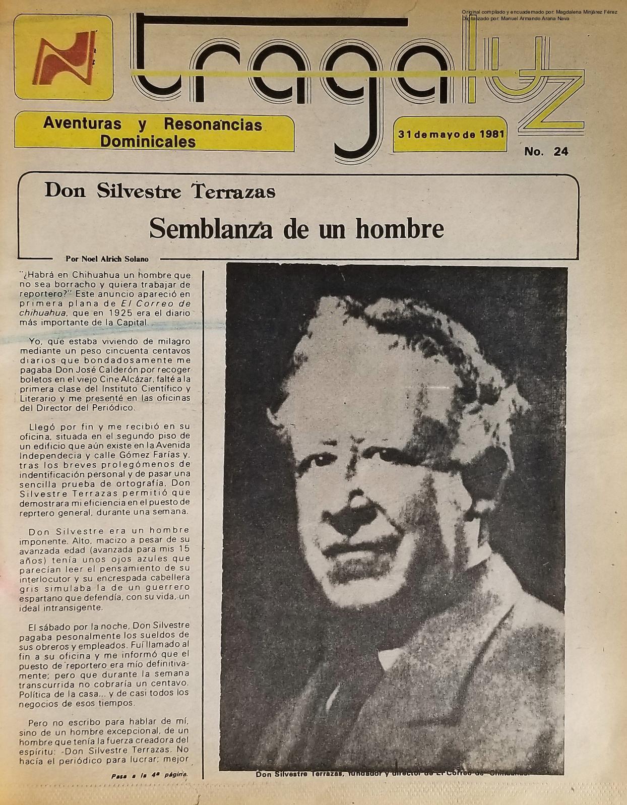 Calaméo 1981 05 31 Tragaluz No 24