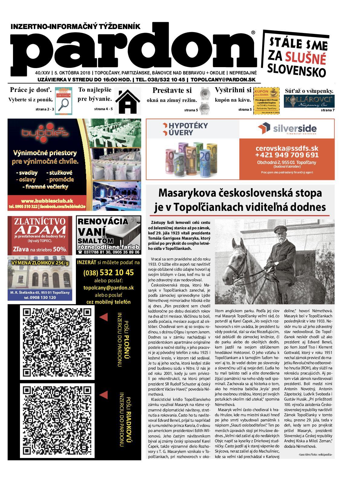 2d8d3131b636 Calaméo - Pardon Topoľčany 40 2018