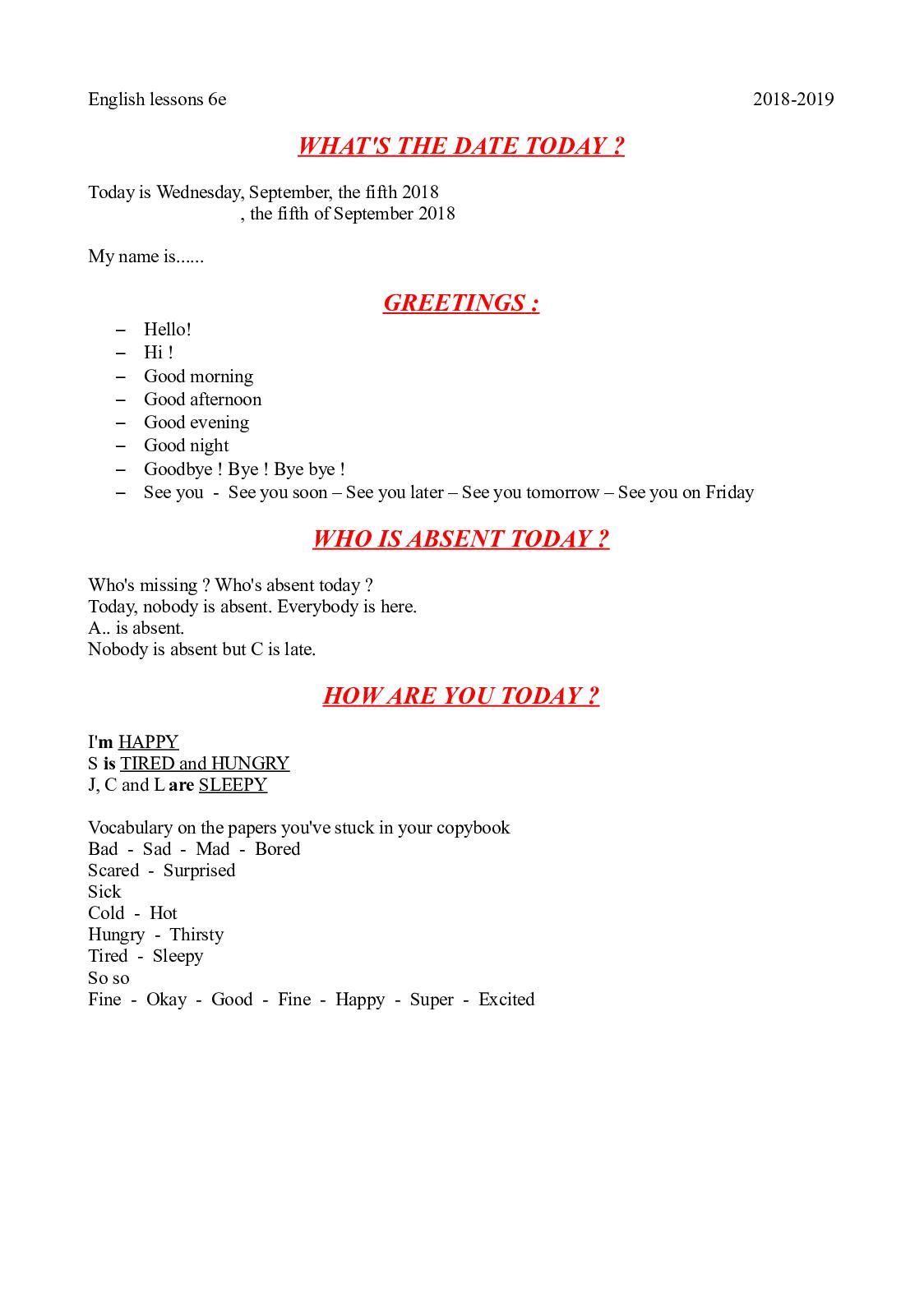 Calameo English Lessons 6e 10 03 2018