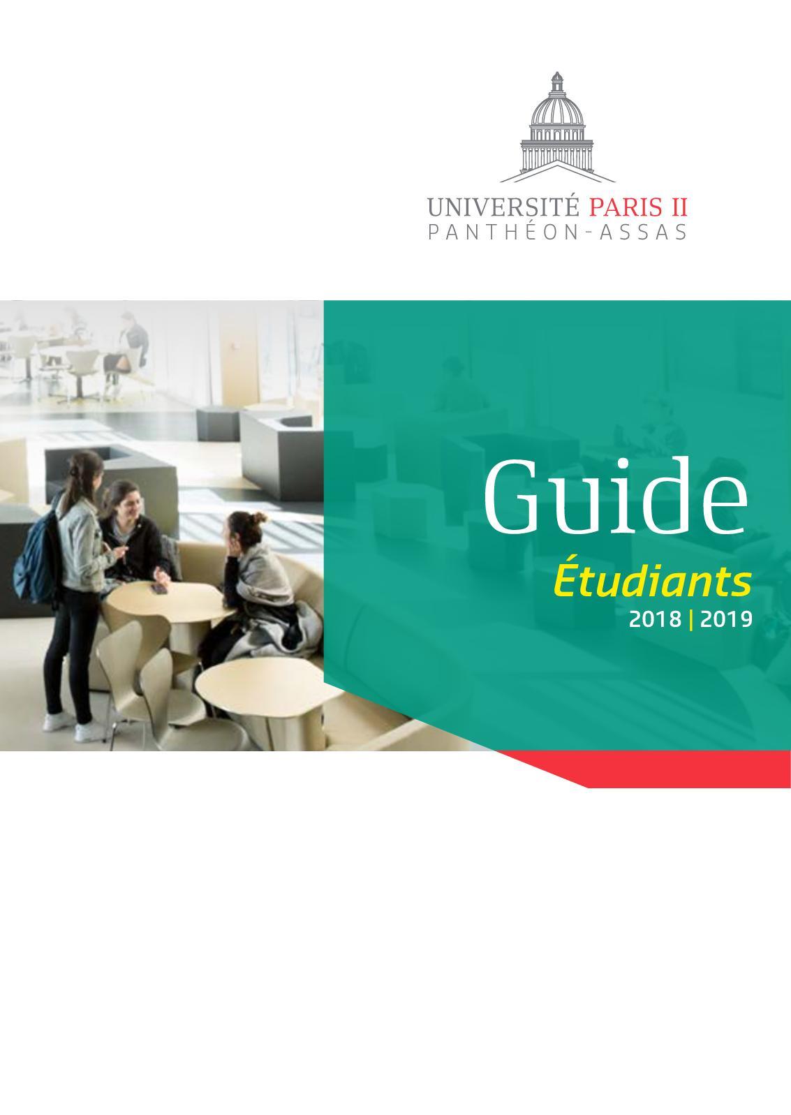 Assas Calendrier Universitaire.Calameo Guide De L Etudiant 2018 Up2pa