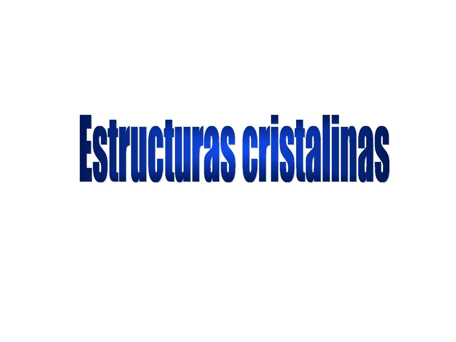 Calaméo Estructuras Cristalinas
