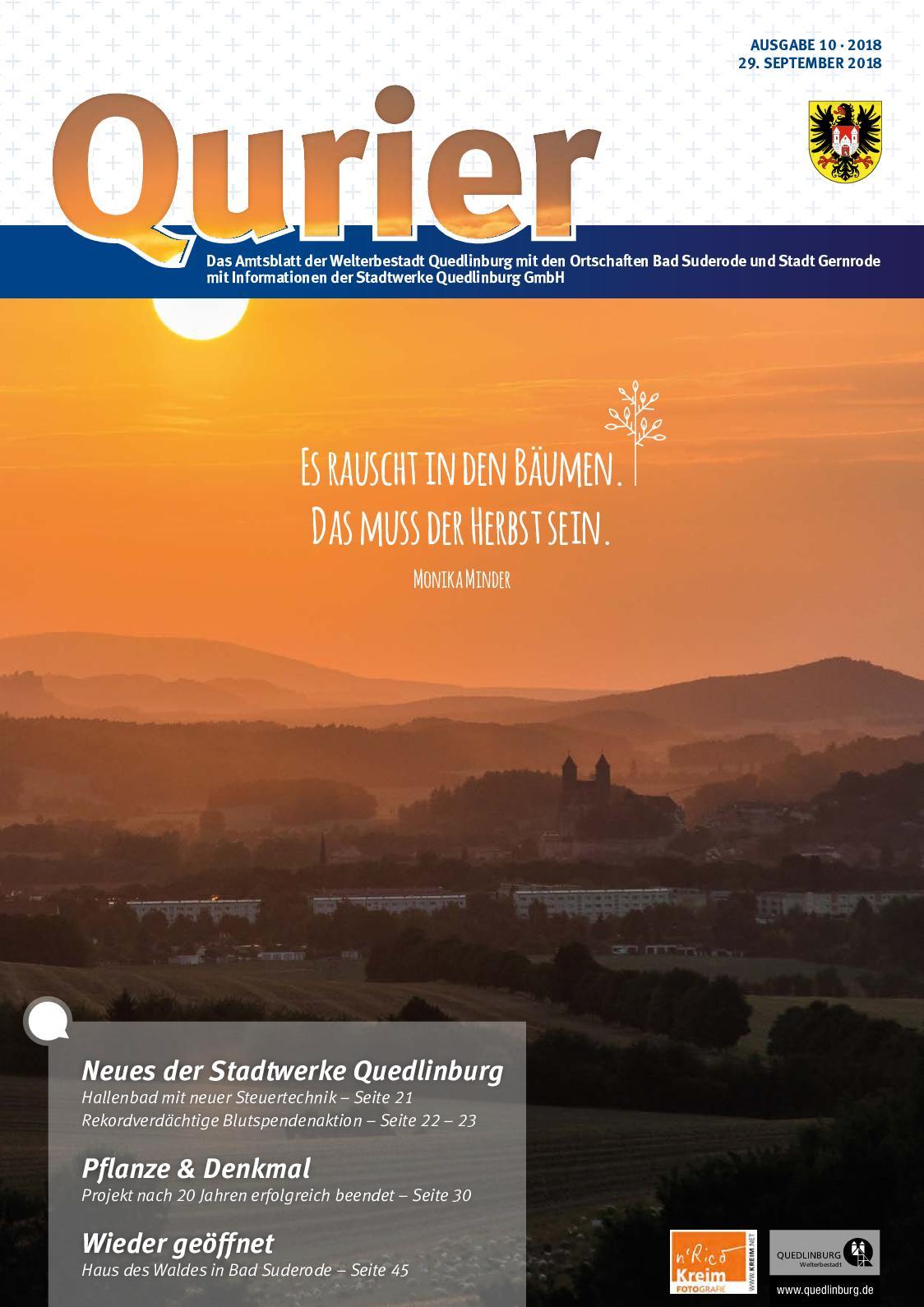Calameo Qurier 10 2018 Vom 29 08 2018 Das Amtsblatt Der
