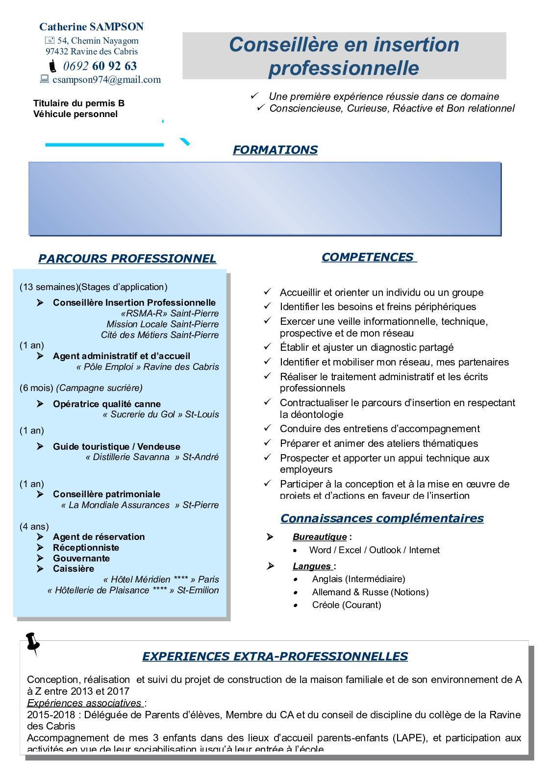 cv conseill u00e8re en insertion professionnelle  u2013 sherlock holmes
