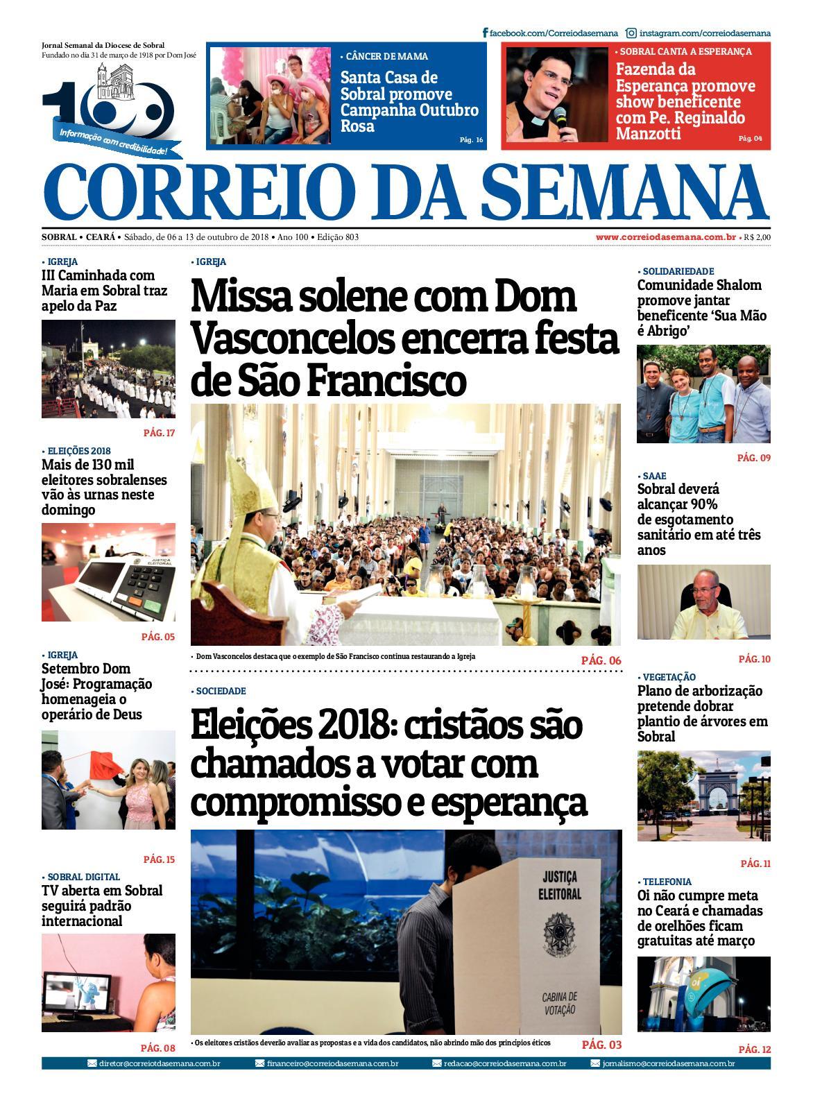 b73978c37 Calaméo - Jornal Correio Da Semana Nº 803