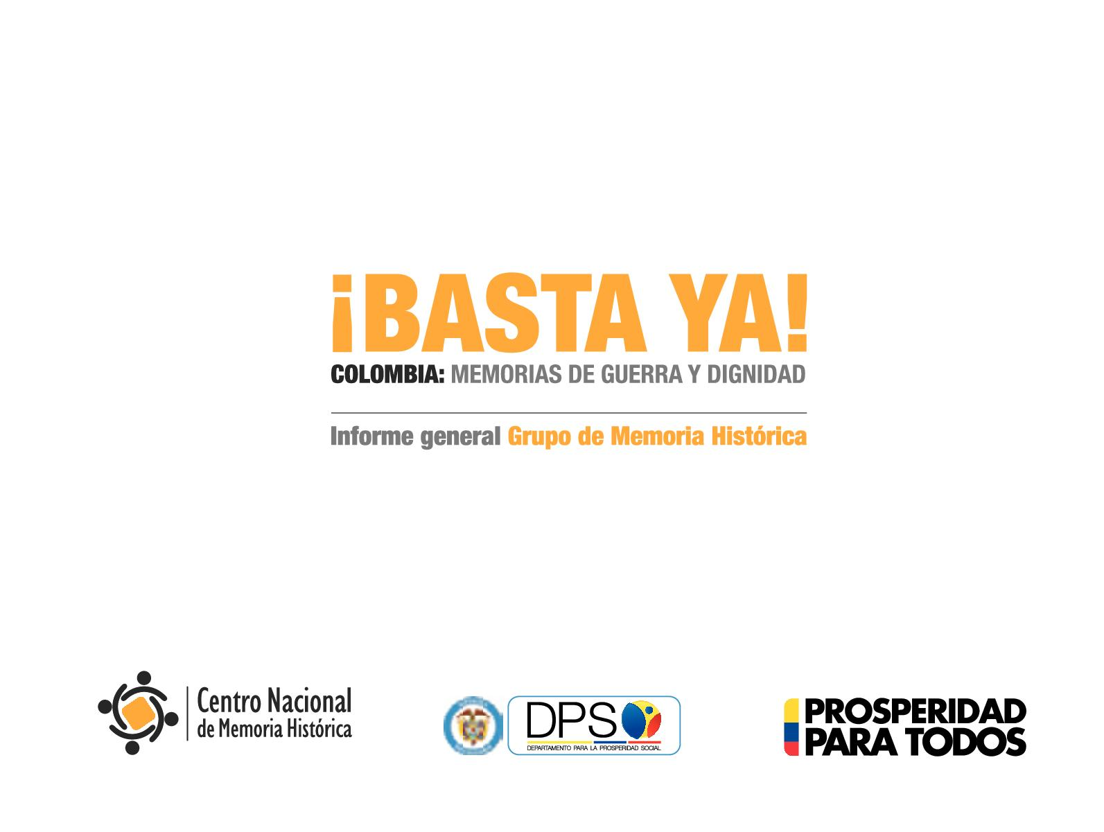 6afcb4d1ad Calaméo - Basta Ya Colombia Memorias De Guerra Y Dignidad 2016