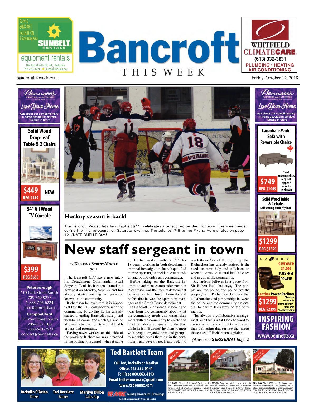 Calaméo - Bancroft This Week Oct 12, 2018