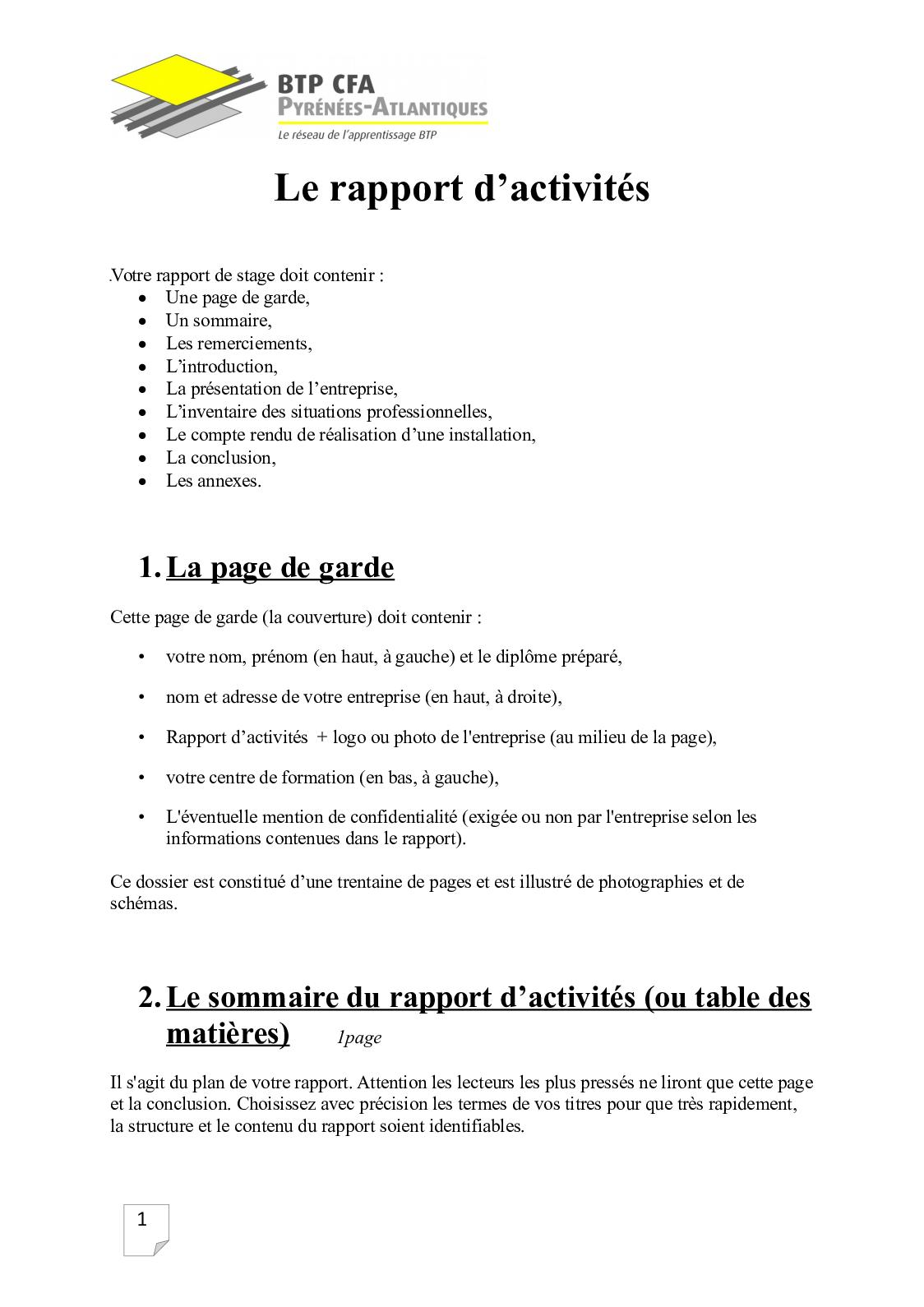 Calaméo Le Rapport D Activités Bac Pro Tisec