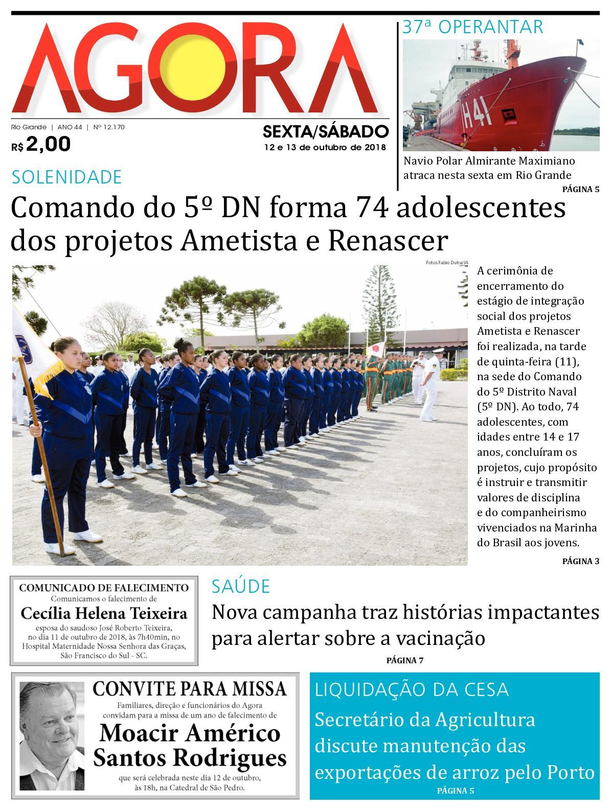 22c689976 Calaméo - Jornal Agora - Edição 12170 - 12 e 13 de Outubro de 2018