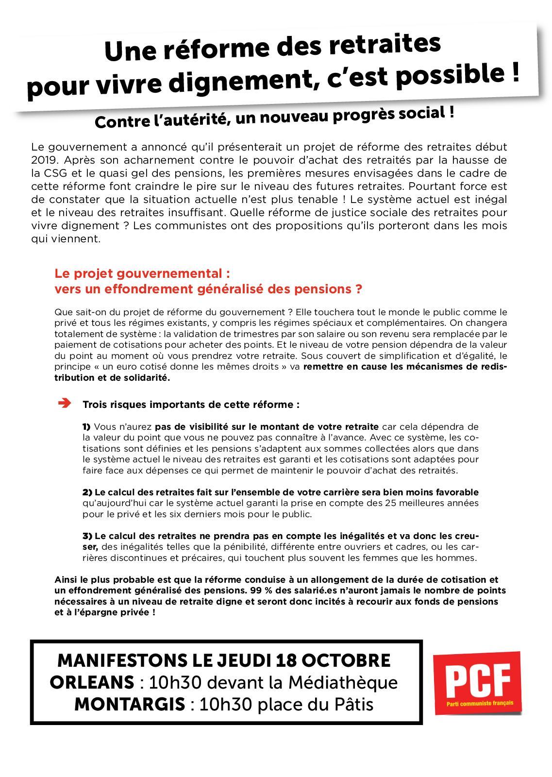 Calameo Tract Pcf45 Manif Retraites 18 Octobre