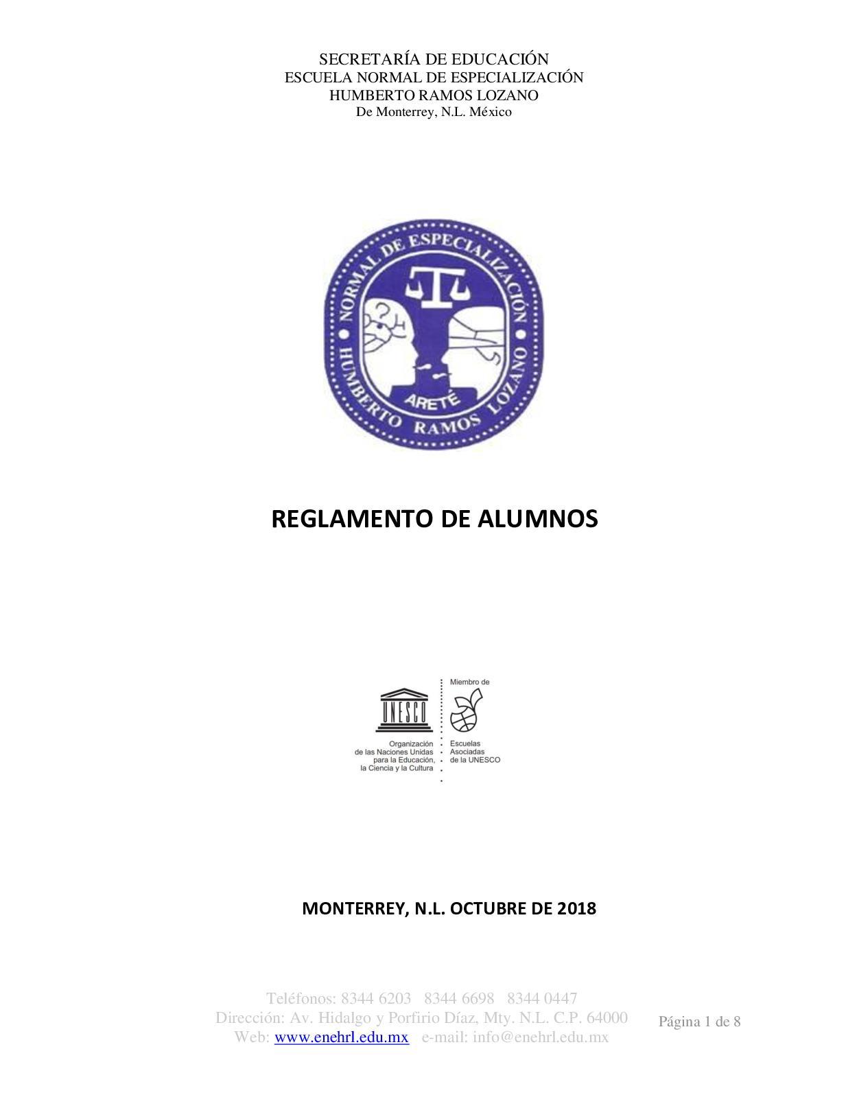 Reglamento Alumnos Enehrl2018web