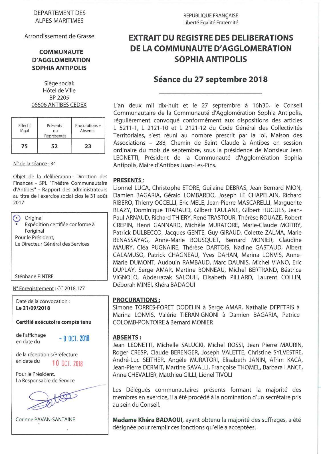 Calaméo - CC 2018 177 DFI - SPL TCA - Rapport Des Administrateurs Exercice  Clos Le 31 08 2017