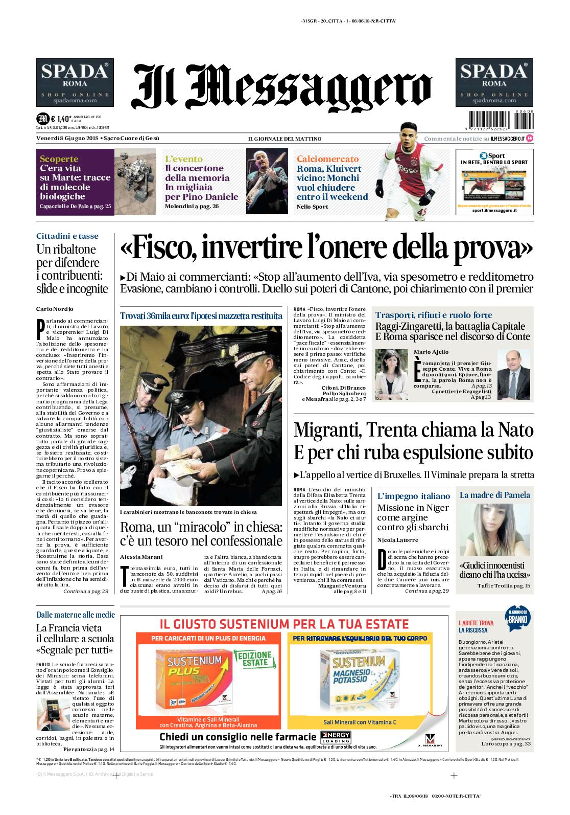 661dada7a0 Calaméo - Messaggero 20180608