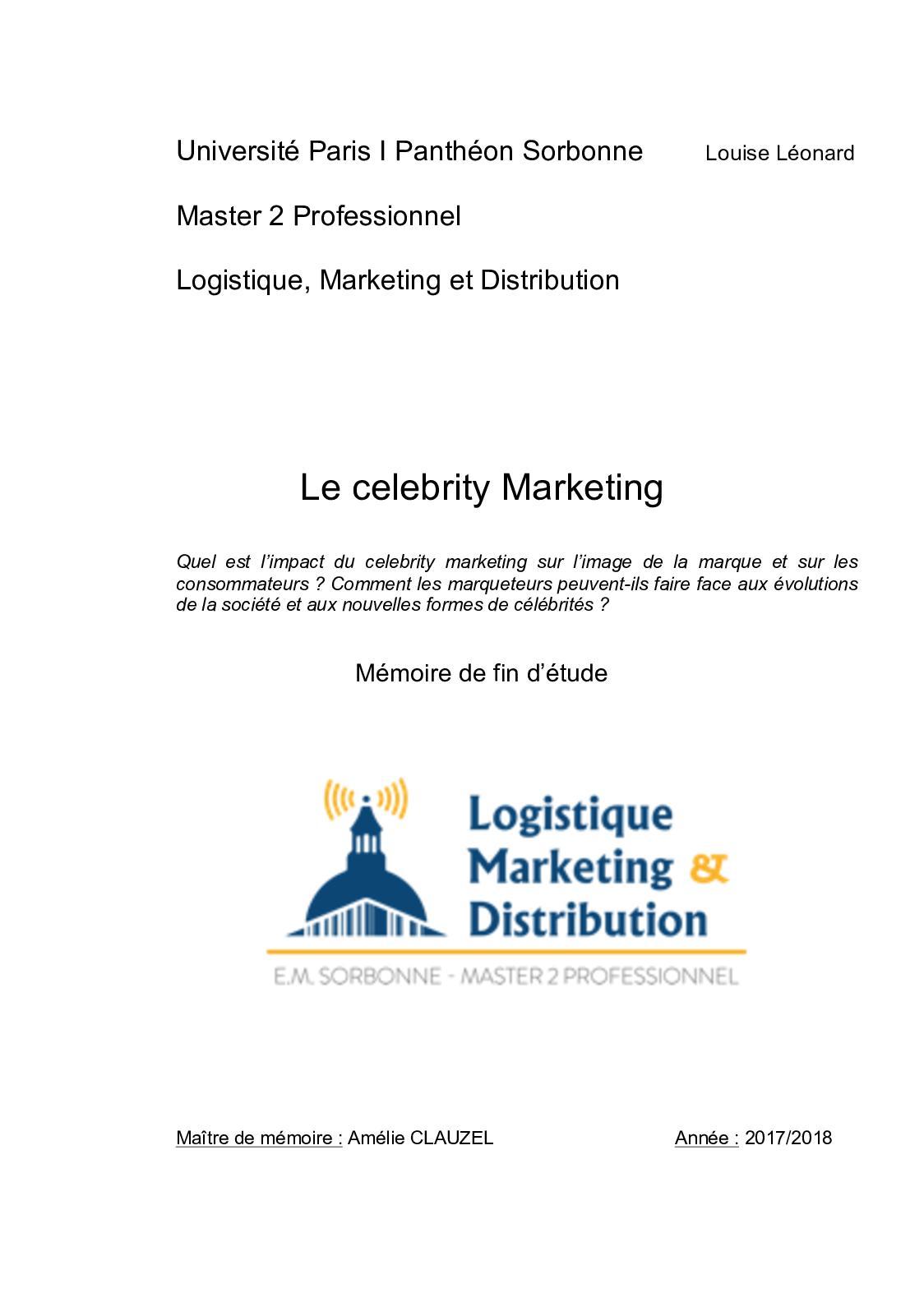 Exemple De Mémoire De Licence Professionnelle En Marketing ...