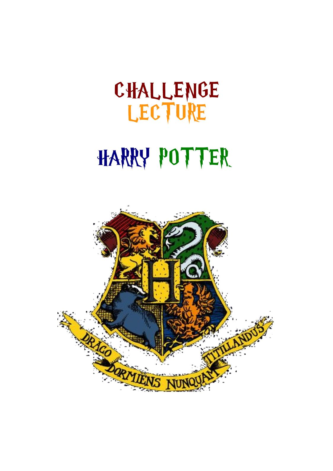 Challenge Harry Potter