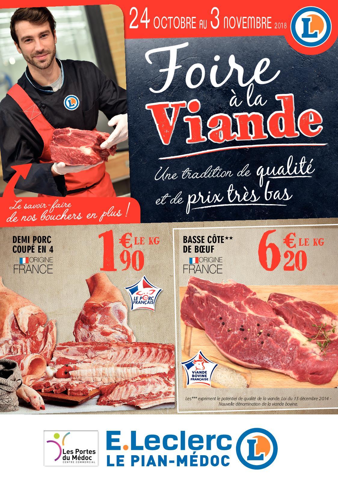 Calaméo Catalogue Eleclerc Le Pian Médoc Foire A La Viande