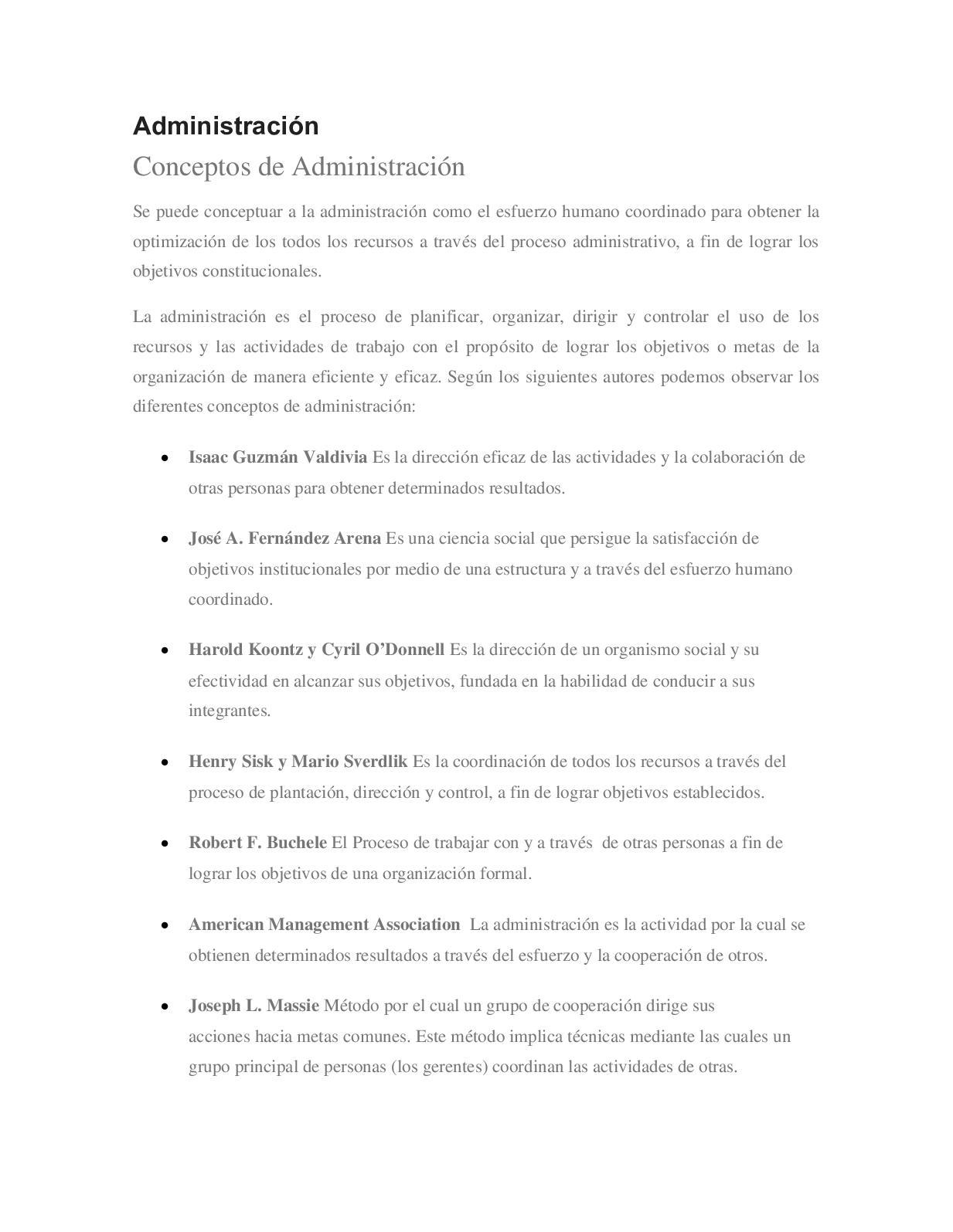 Calaméo Administración Conceptos