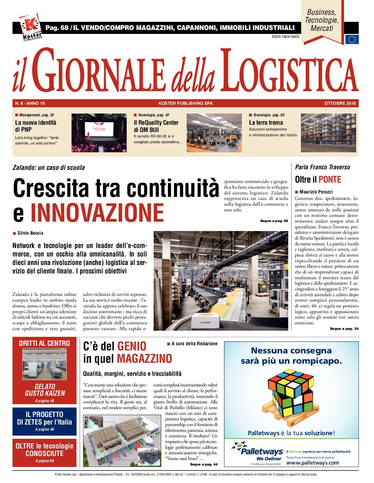Logistica 2018 Il Giornale Ottobre Della Calaméo EH9YWD2I