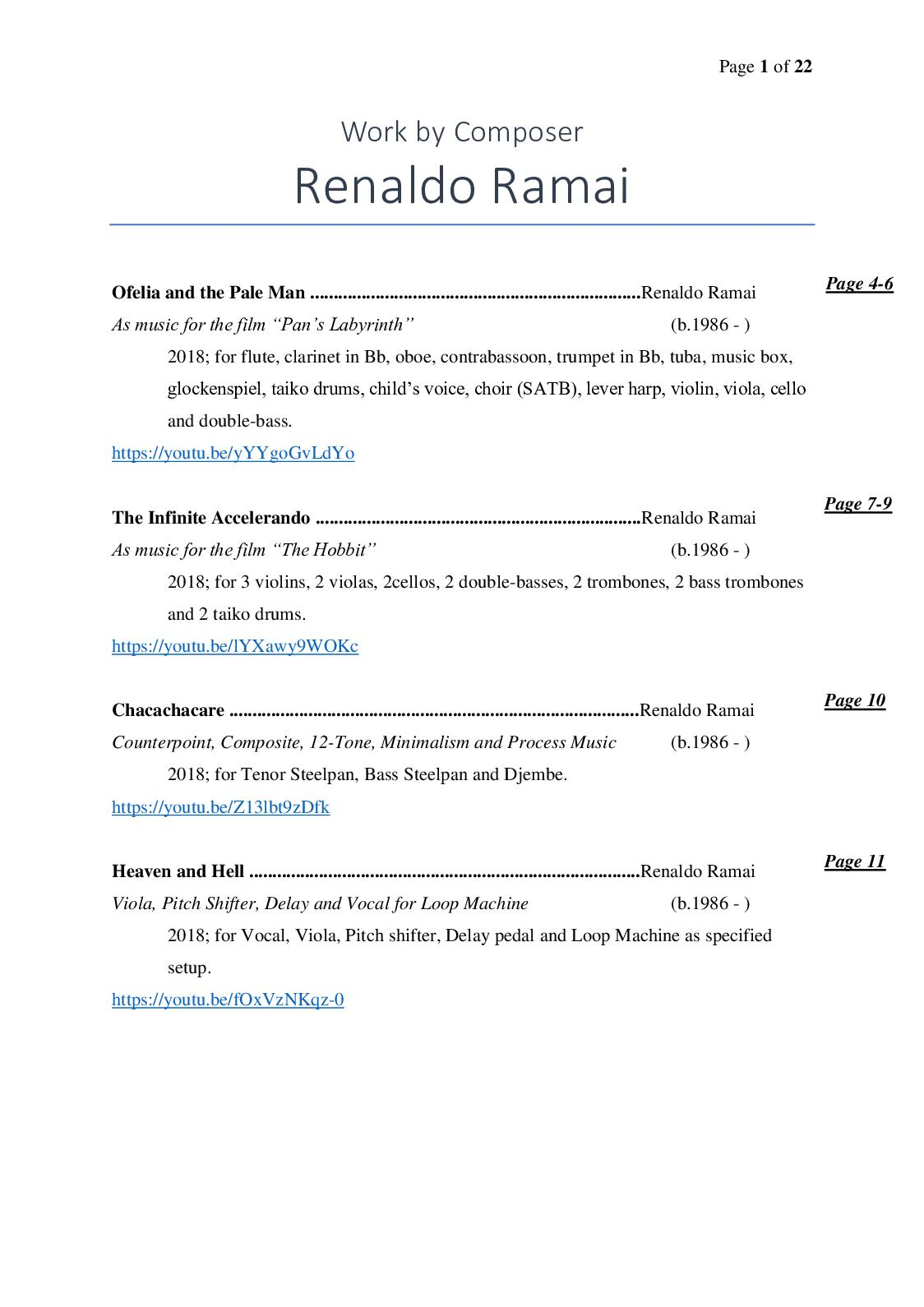 Calaméo - Renaldo Ramai 2018 Composition Portfolio