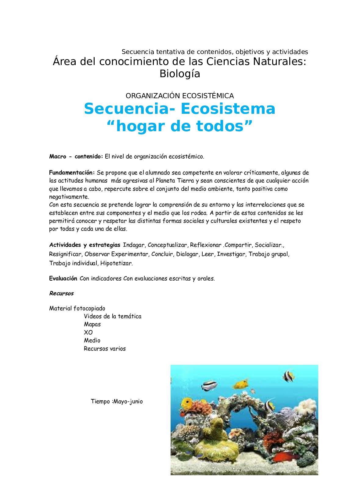 Organización Ecosistémica Hogar De Todos