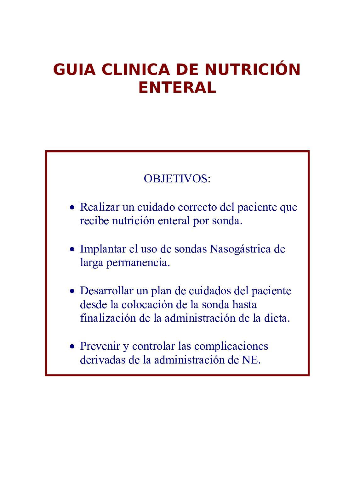indicaciones y contraindicaciones de nutricion enteral