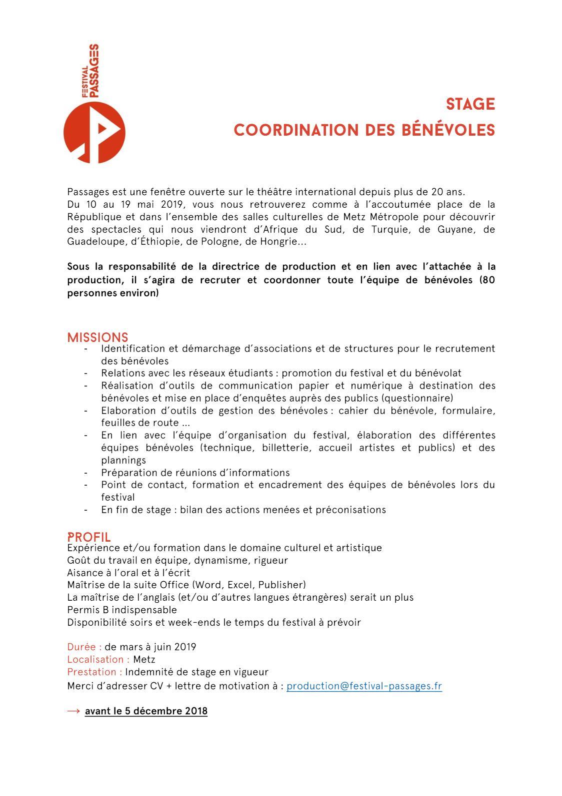 Calaméo Stage Coordination Bénévoles