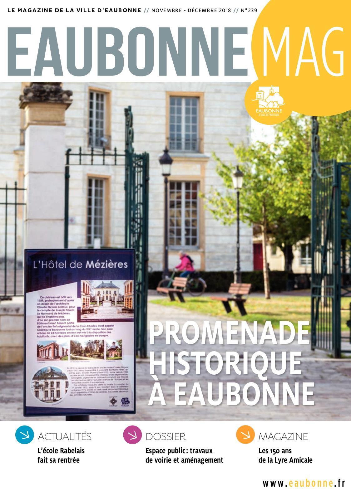 Calameo Eaubonne Mag Novembre Decembre 2018 N 239