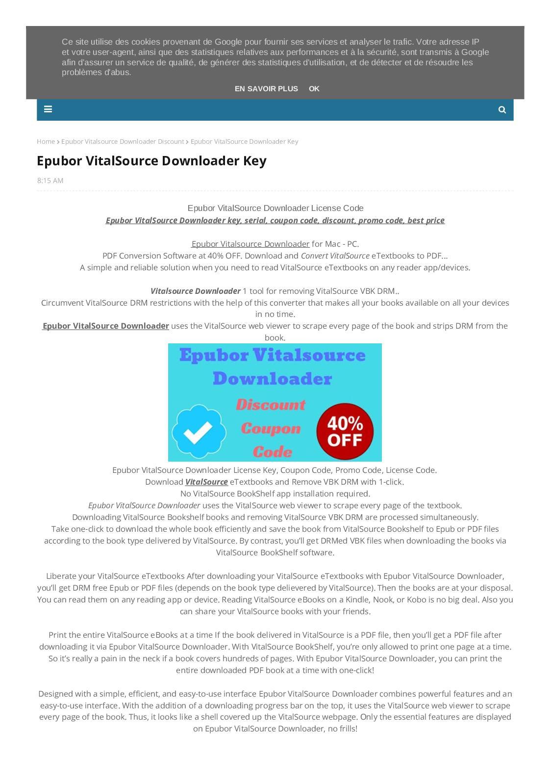 Calaméo - 40% OFF Epubor VitalSource Downloader Coupon