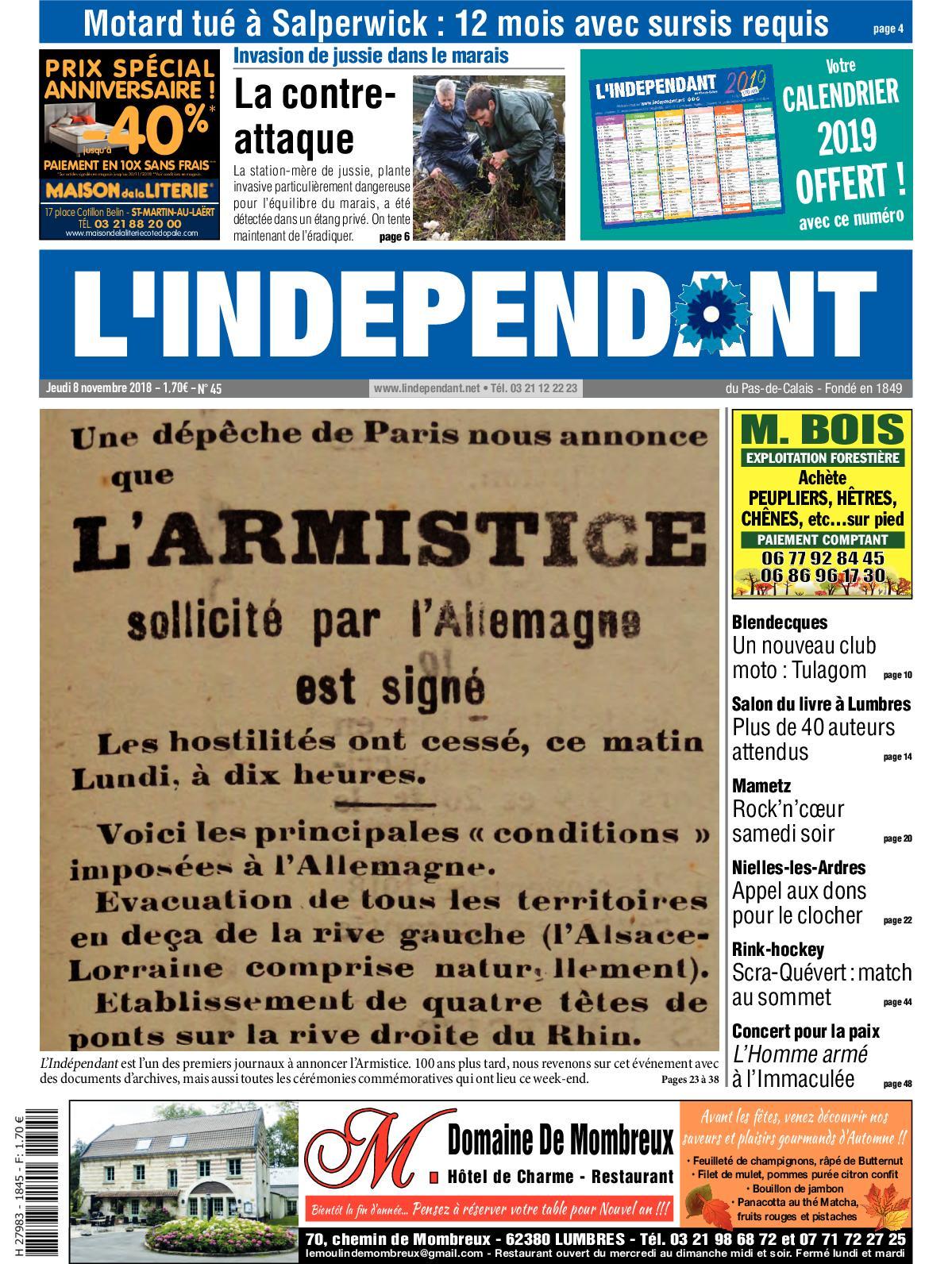 57bc3159e42f2 Calaméo - L indépendant Semaine 45 2018