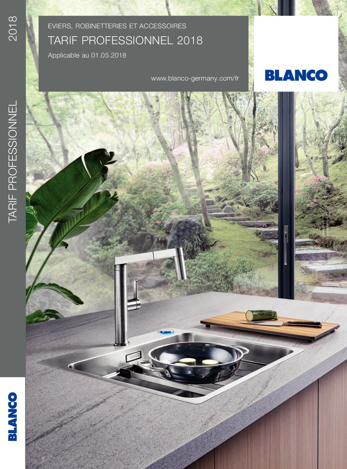 Blanco Encastrable 513214 Blancometra 5 S Silgranit/® PuraDur/® II Blanc /Évier 45 cm