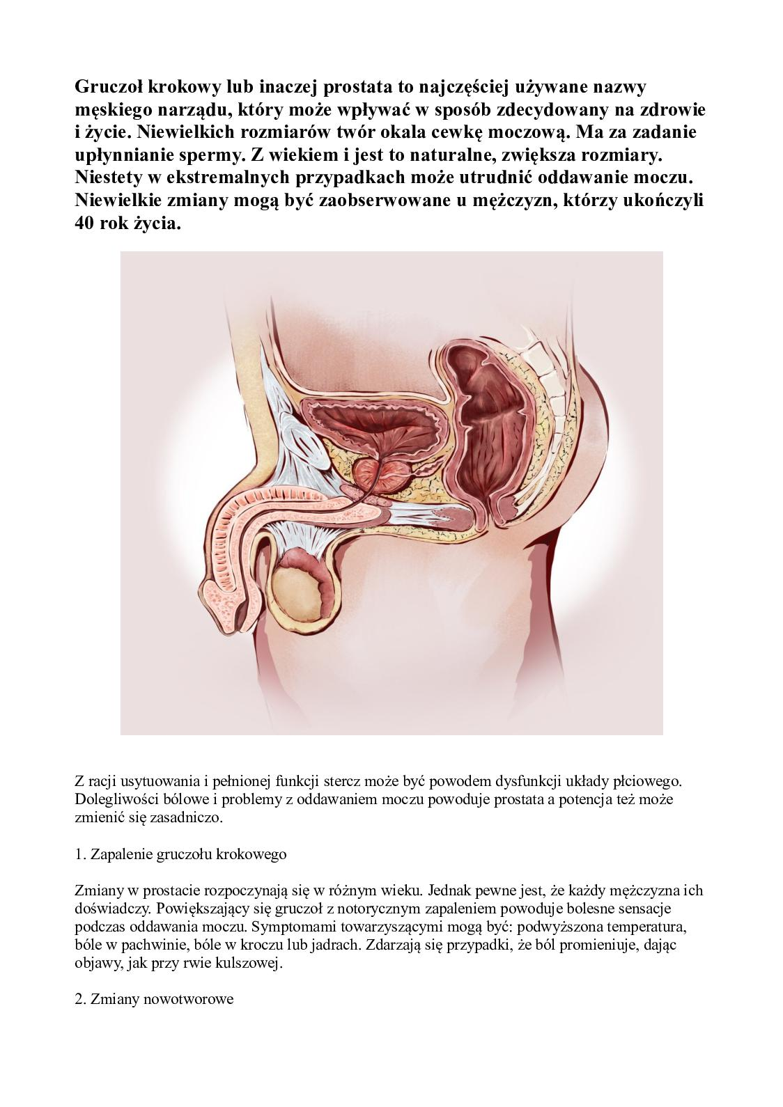Prostata a potencja - zapalenia prostaty a słaba erekcja
