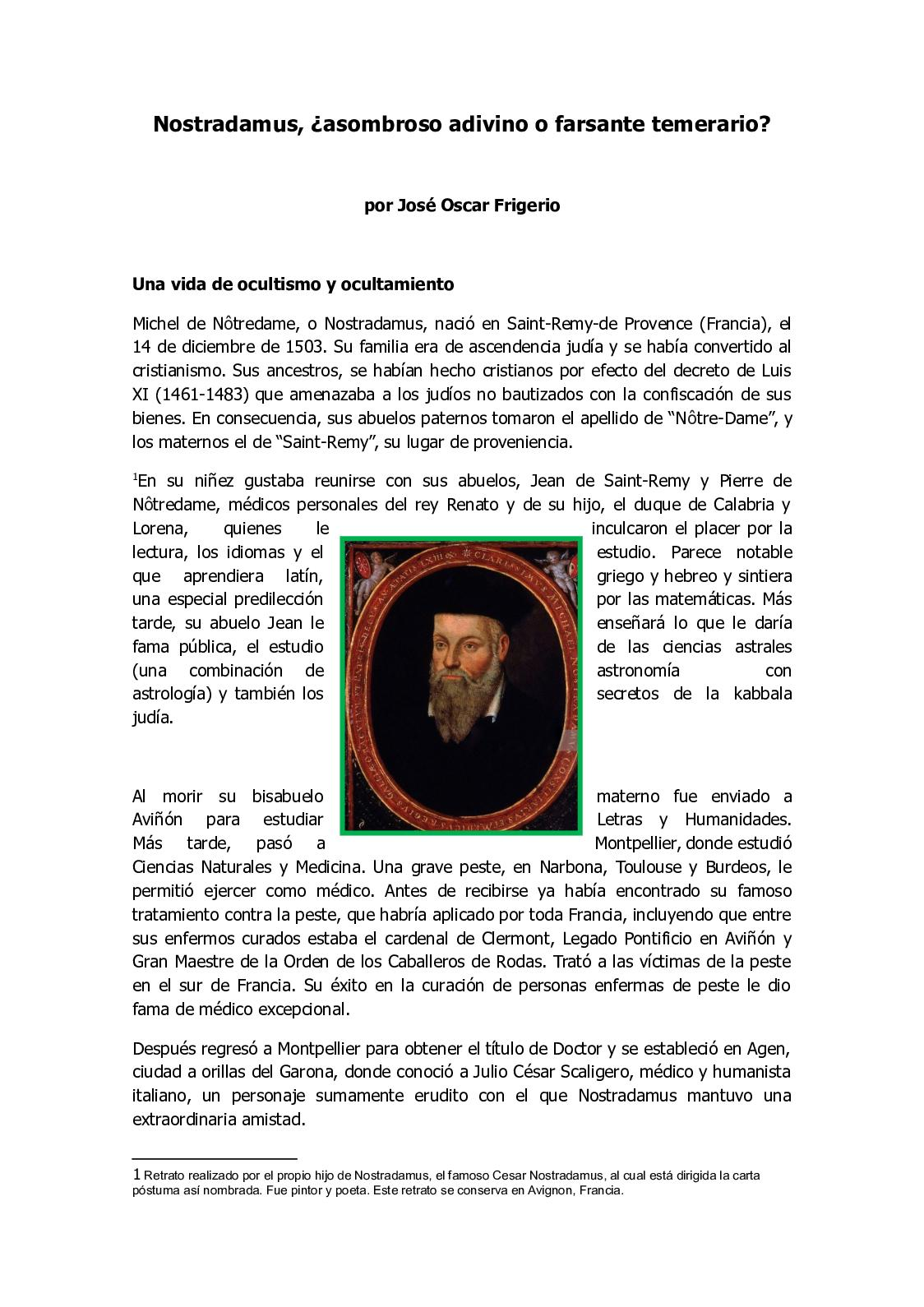 Calaméo Nostradamus Asombroso Adivino O Farsante Temerario