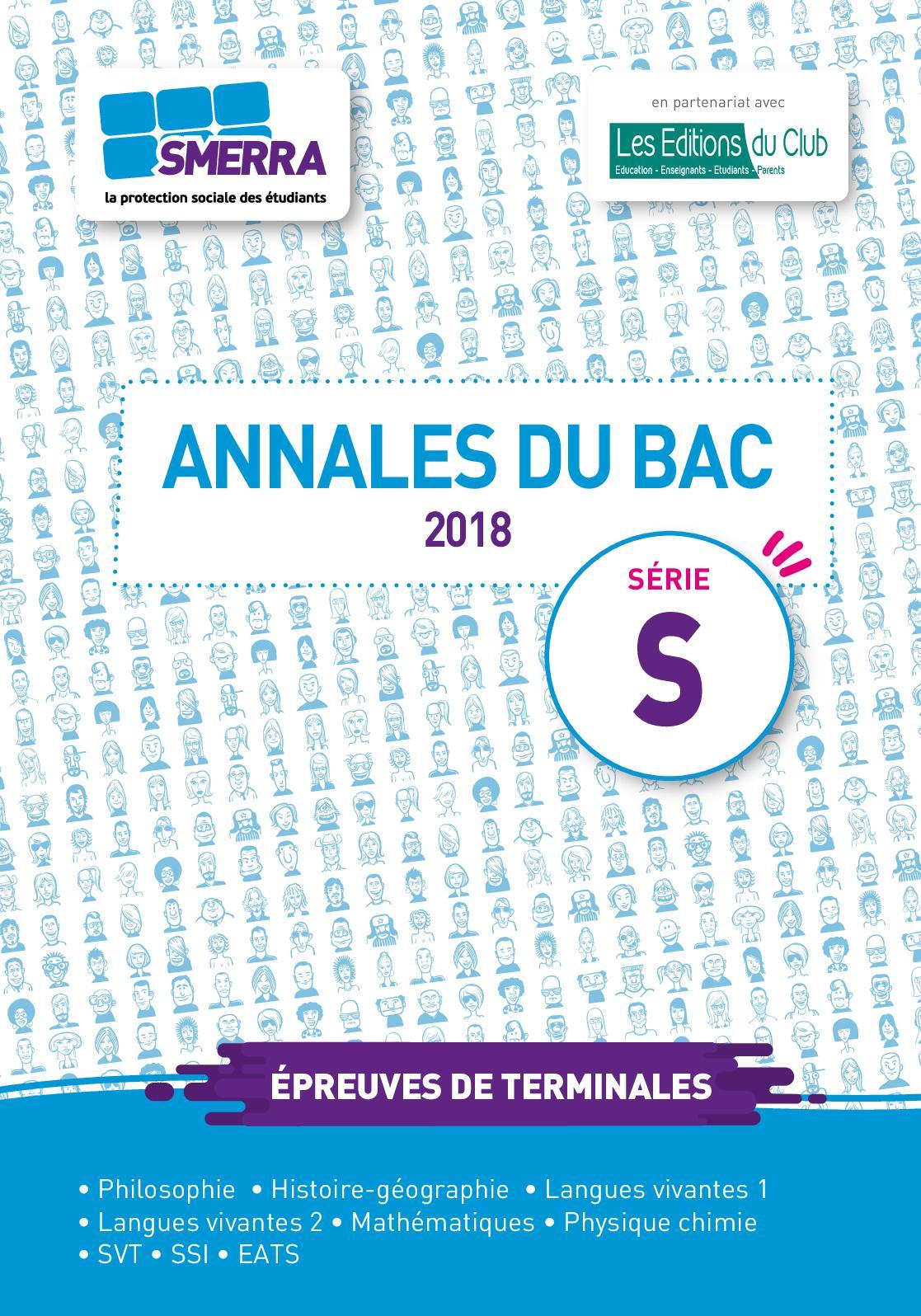 Annales Série S Sujets Corrigés 2018
