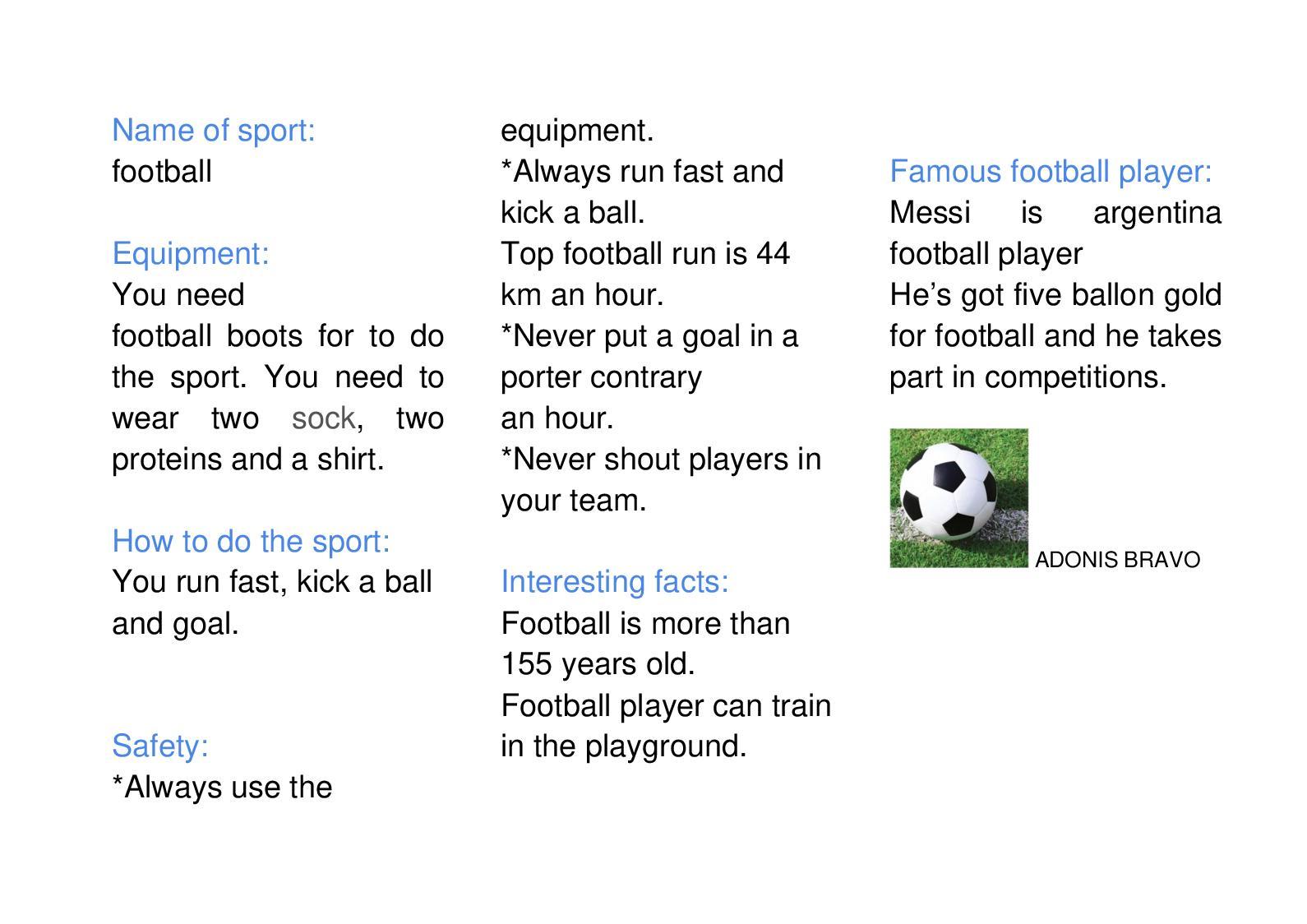 Calaméo - 6 1 Sports Information Sheet