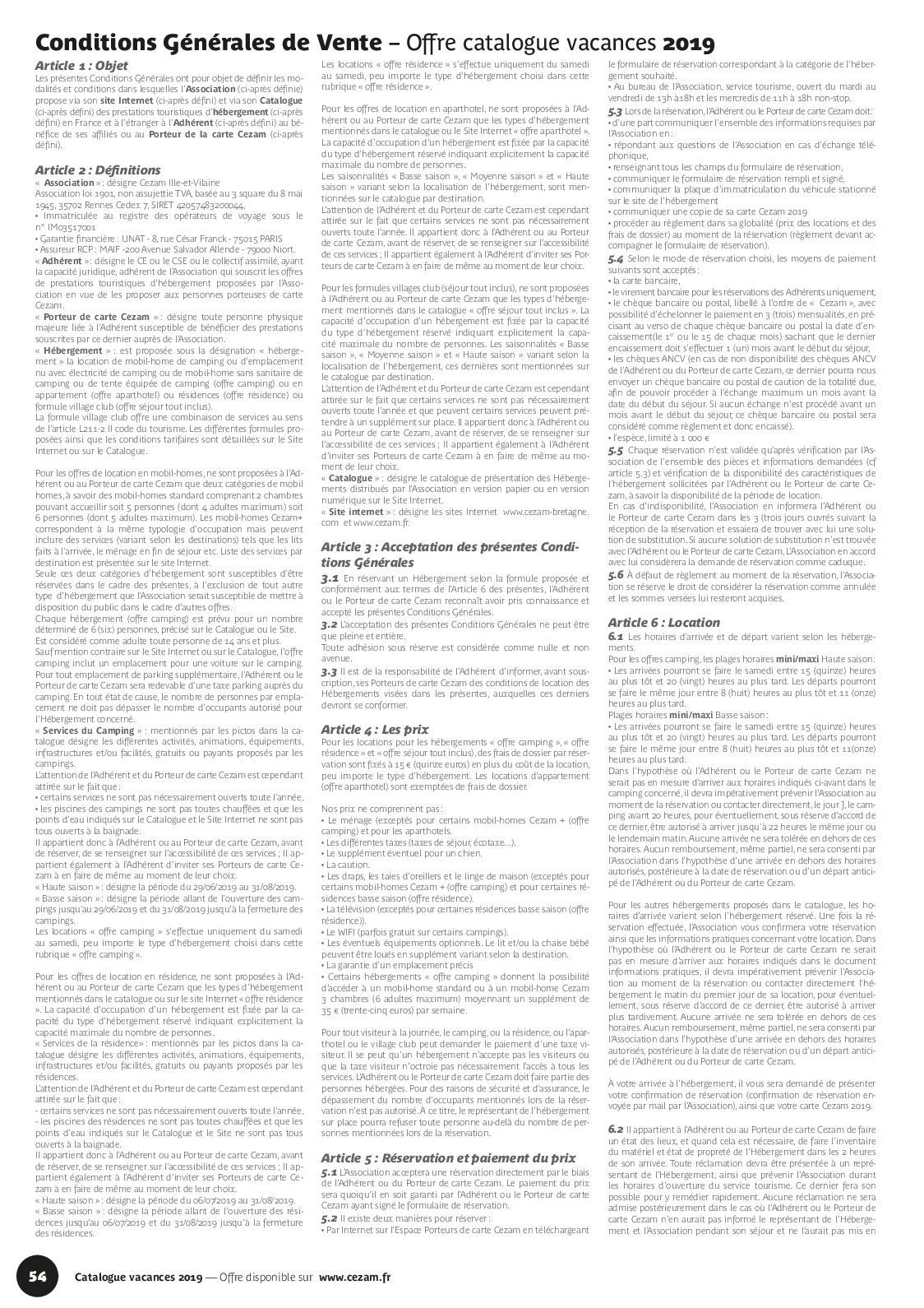 Carte Cezam Catalogue.Catalogue Vacances Cezam 2019 Calameo Downloader
