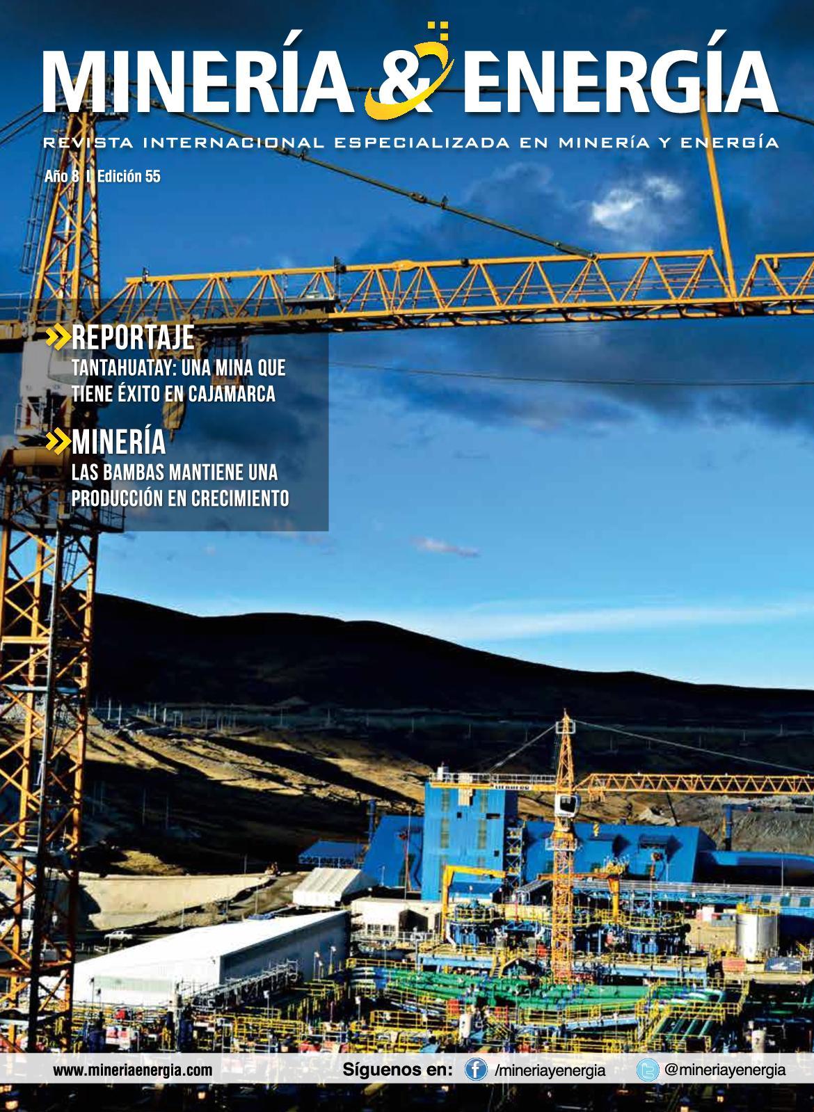 montaje superior versus sumideros Calamo Revista Minera Y Energa Edicin N 55