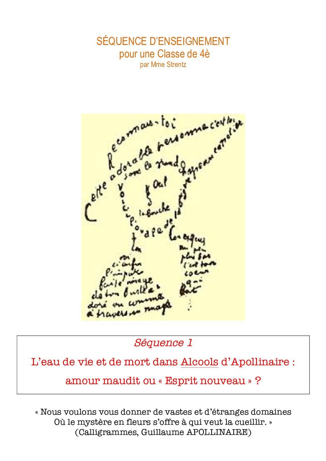 Calaméo Apollinaire Séquence Denseignement 4è