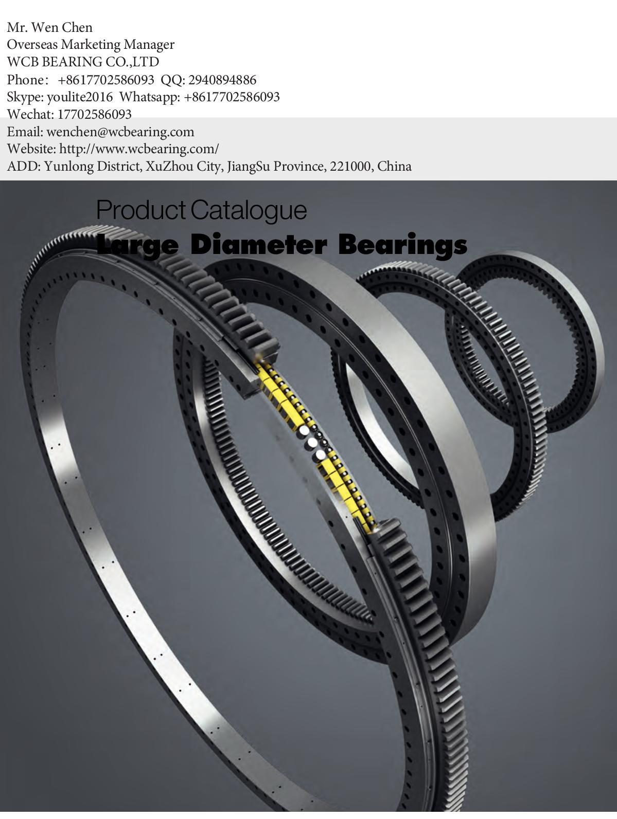 Calam O Wcb Internal Gear Slewing Ring Bearing Gear China