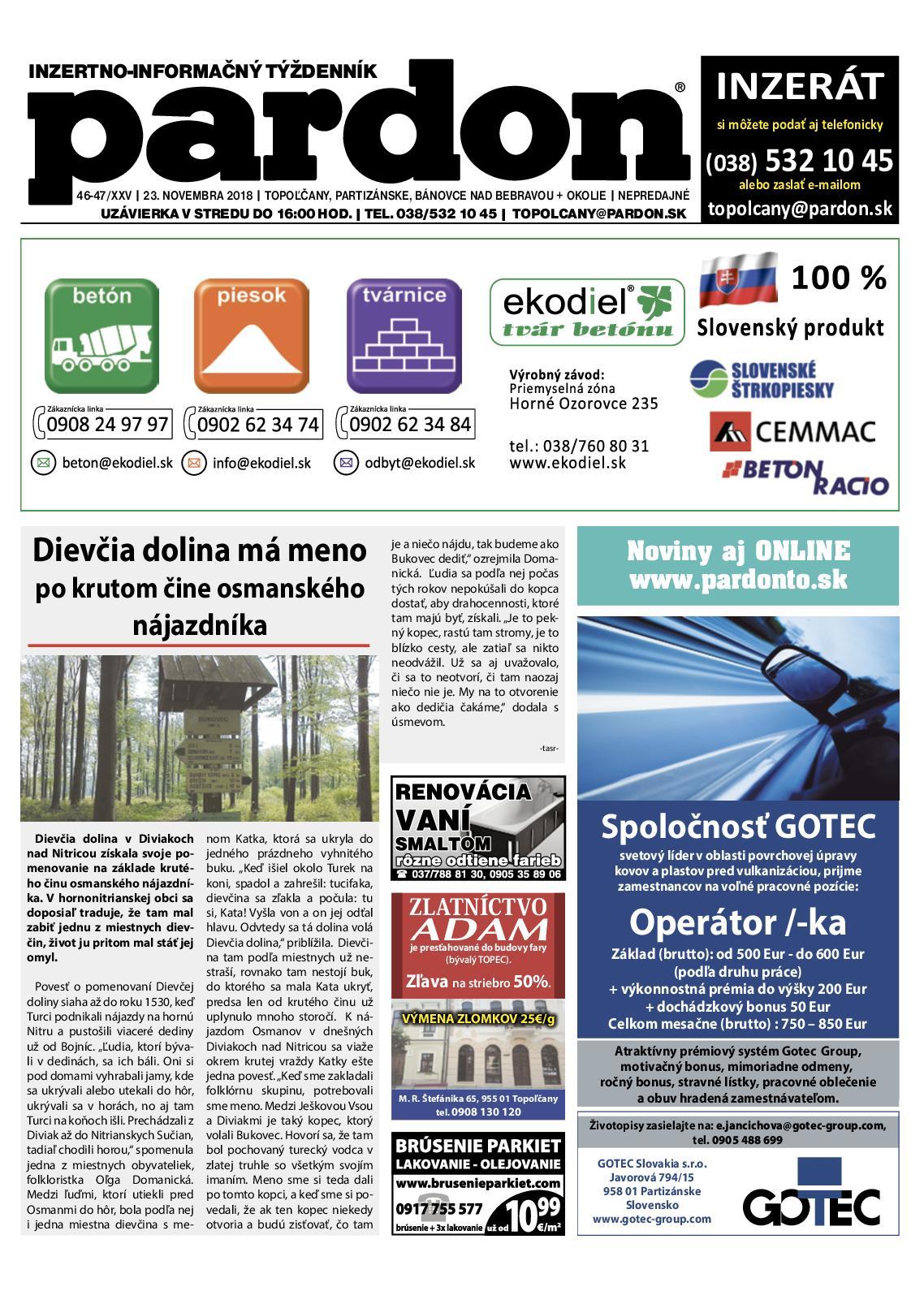 eb17b0e1f912 Calaméo - Pardon Topoľčany 46-47 2018