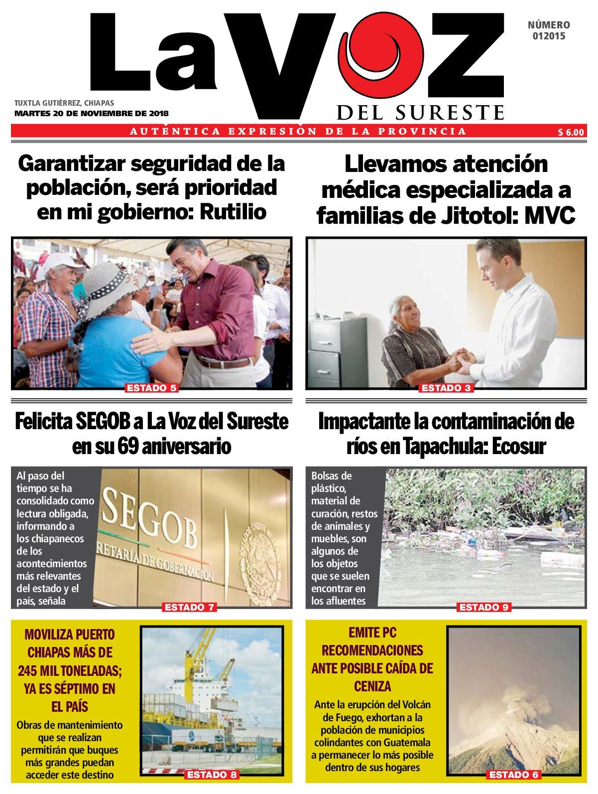 Calaméo - Diario la Voz del Sureste 20 11 2018 63b0a77b26d5