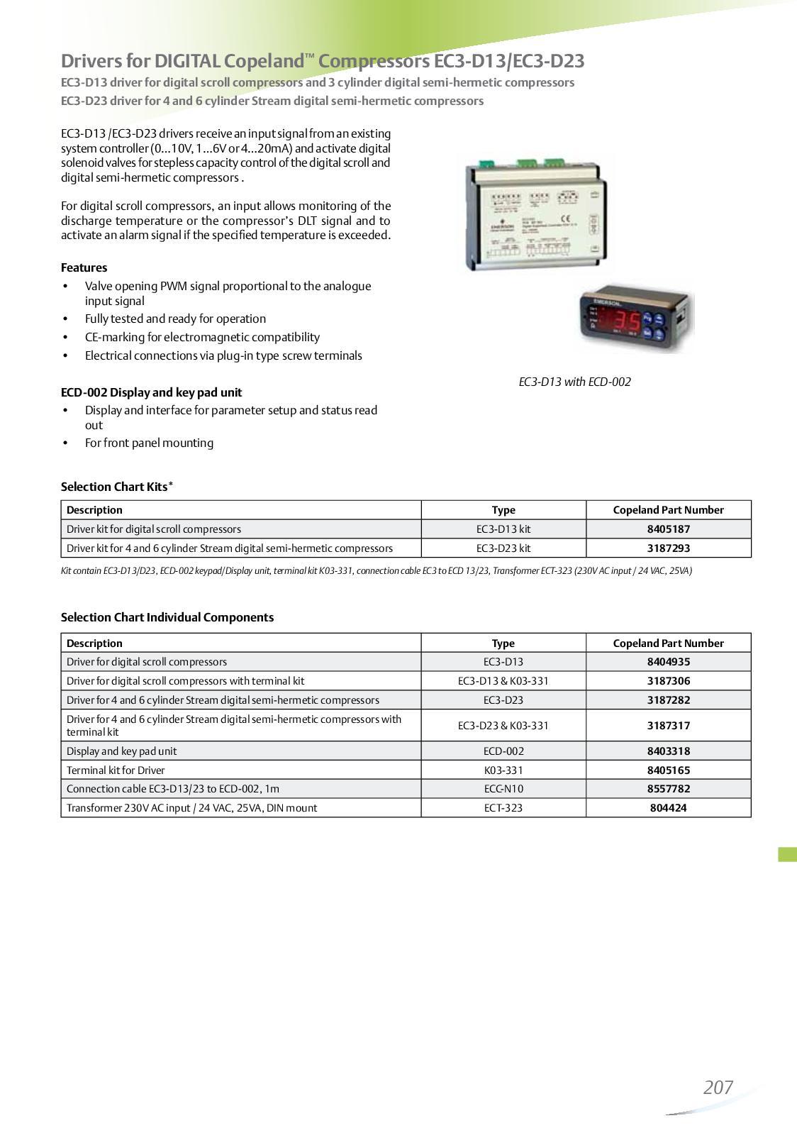 Calaméo - Drivers For DIGITAL Copeland™-Compressors EC3 D13