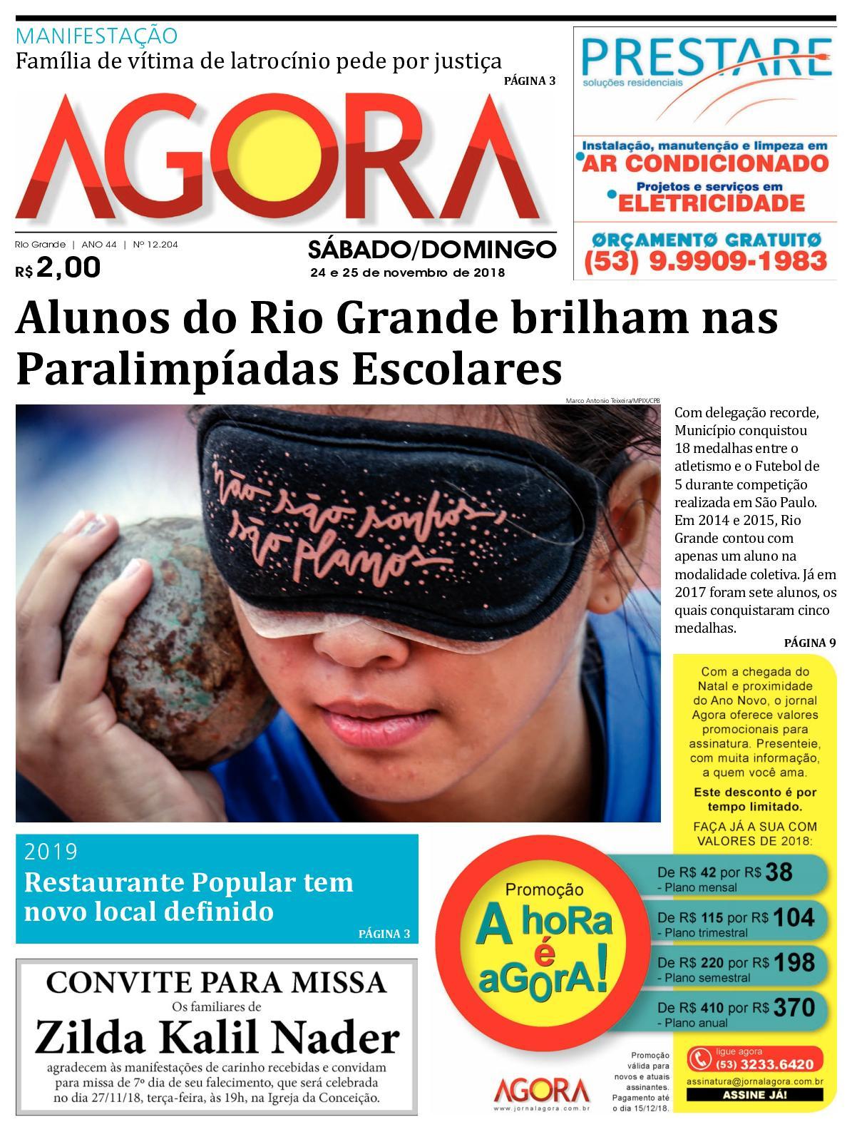 Calaméo - Jornal Agora - Edição 12204 - 24 e 25 de Novembro de 2018 05ce44d9b4