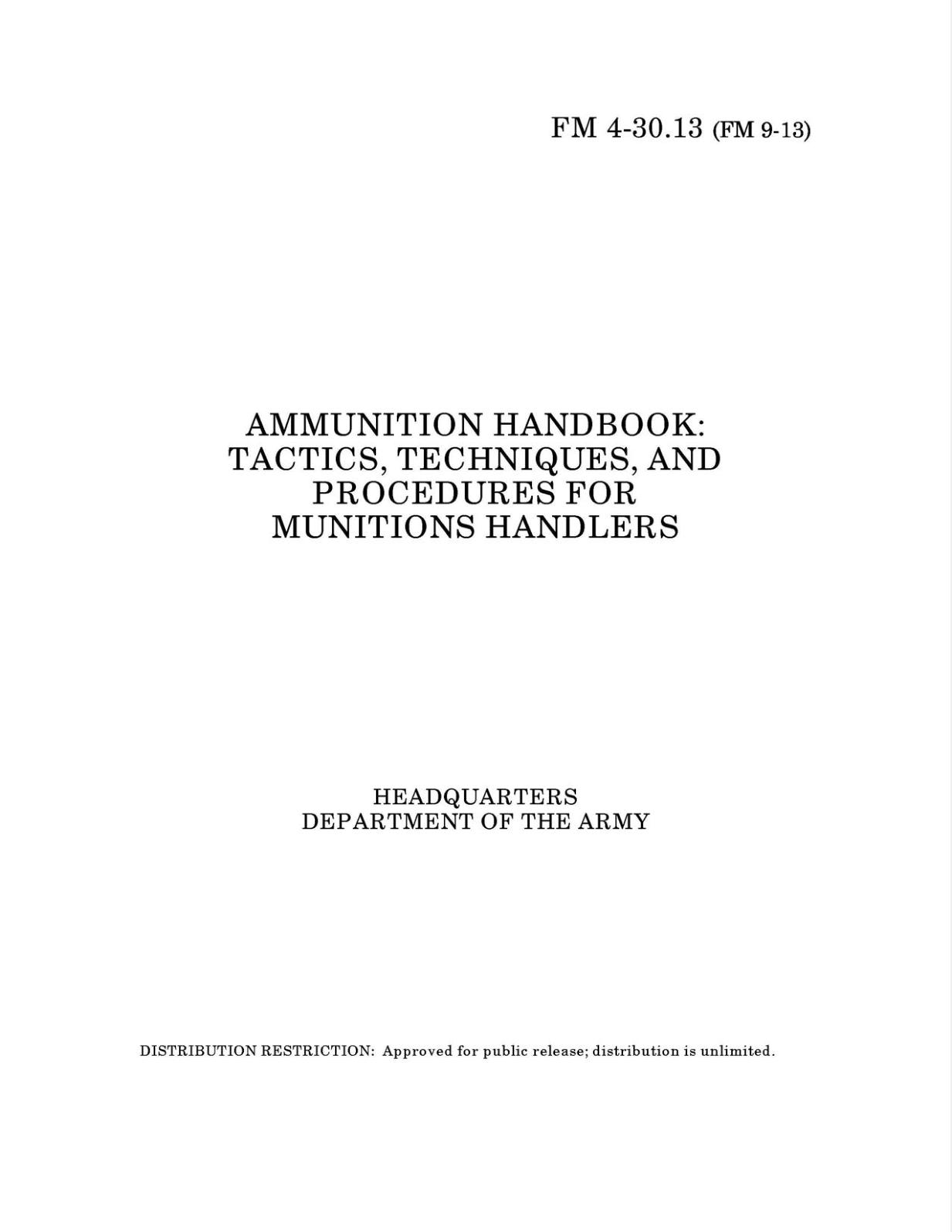 Improvised Munitions Combined with AMMUNITION, GENERAL, TM 9-1300-200
