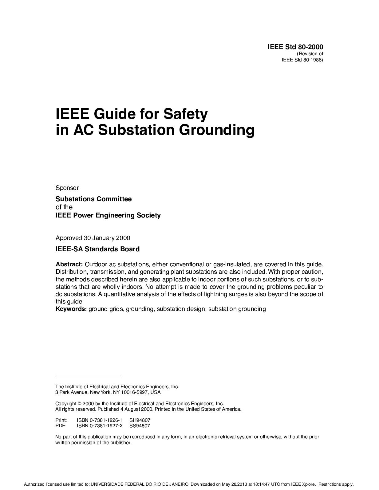 Calam O IEEE Std80