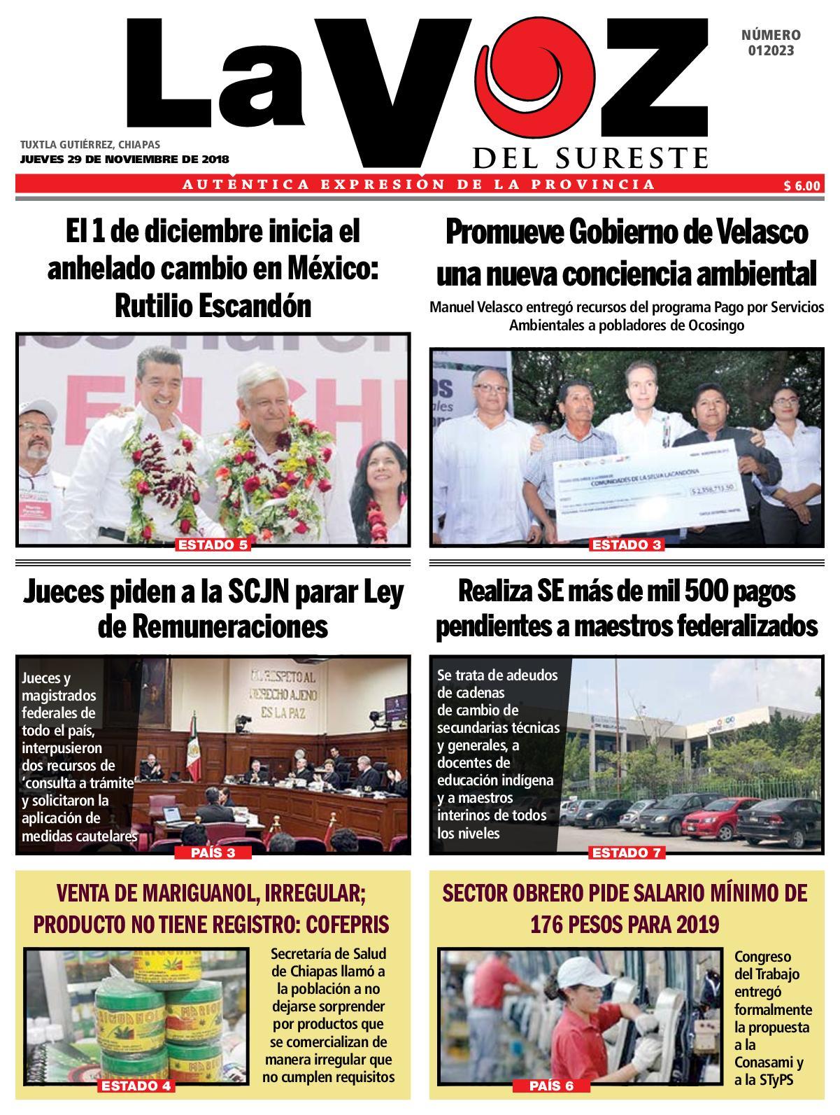Calaméo Diario La Voz Del Sureste 29 11 2018
