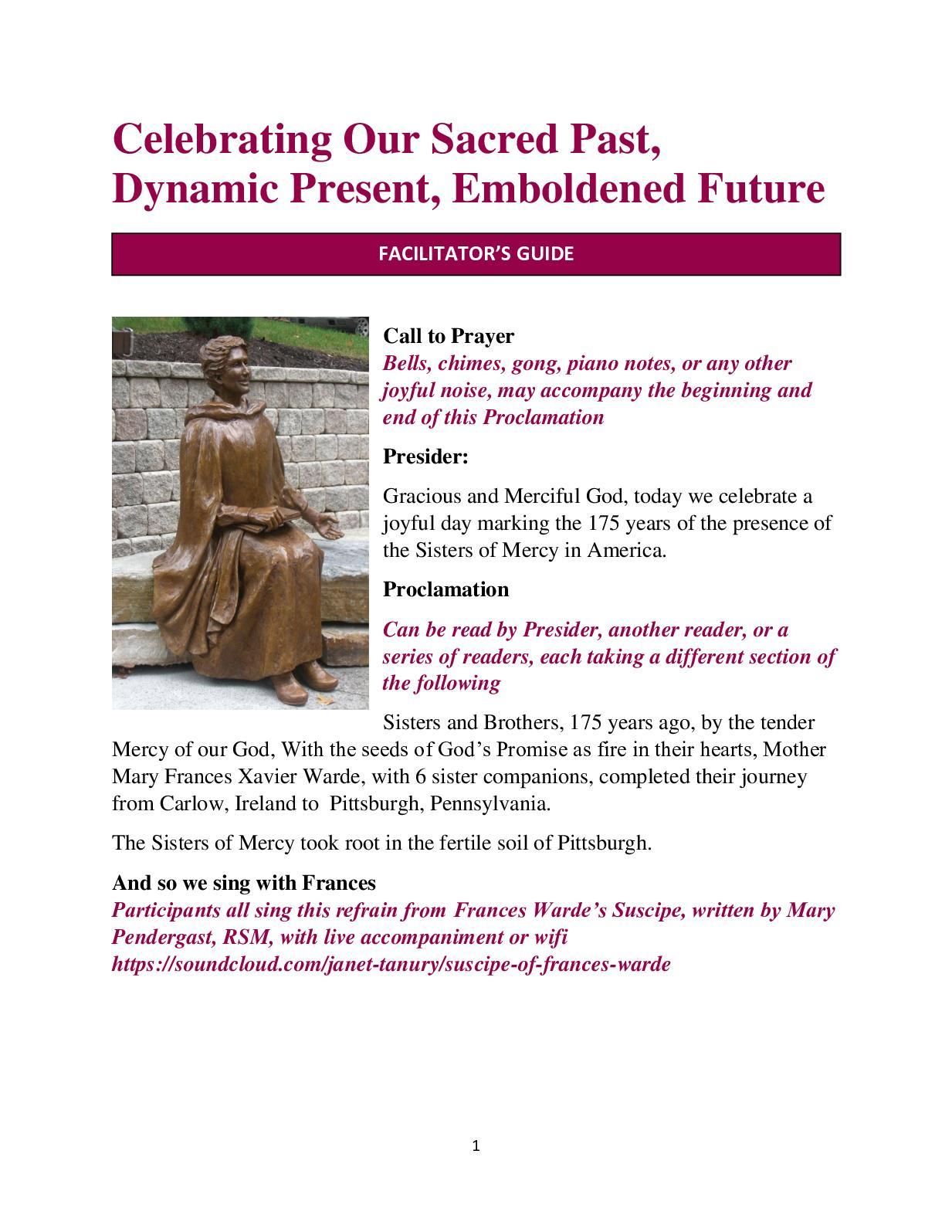 Calaméo - Facilitator Guide 175th Foundation Day Prayer